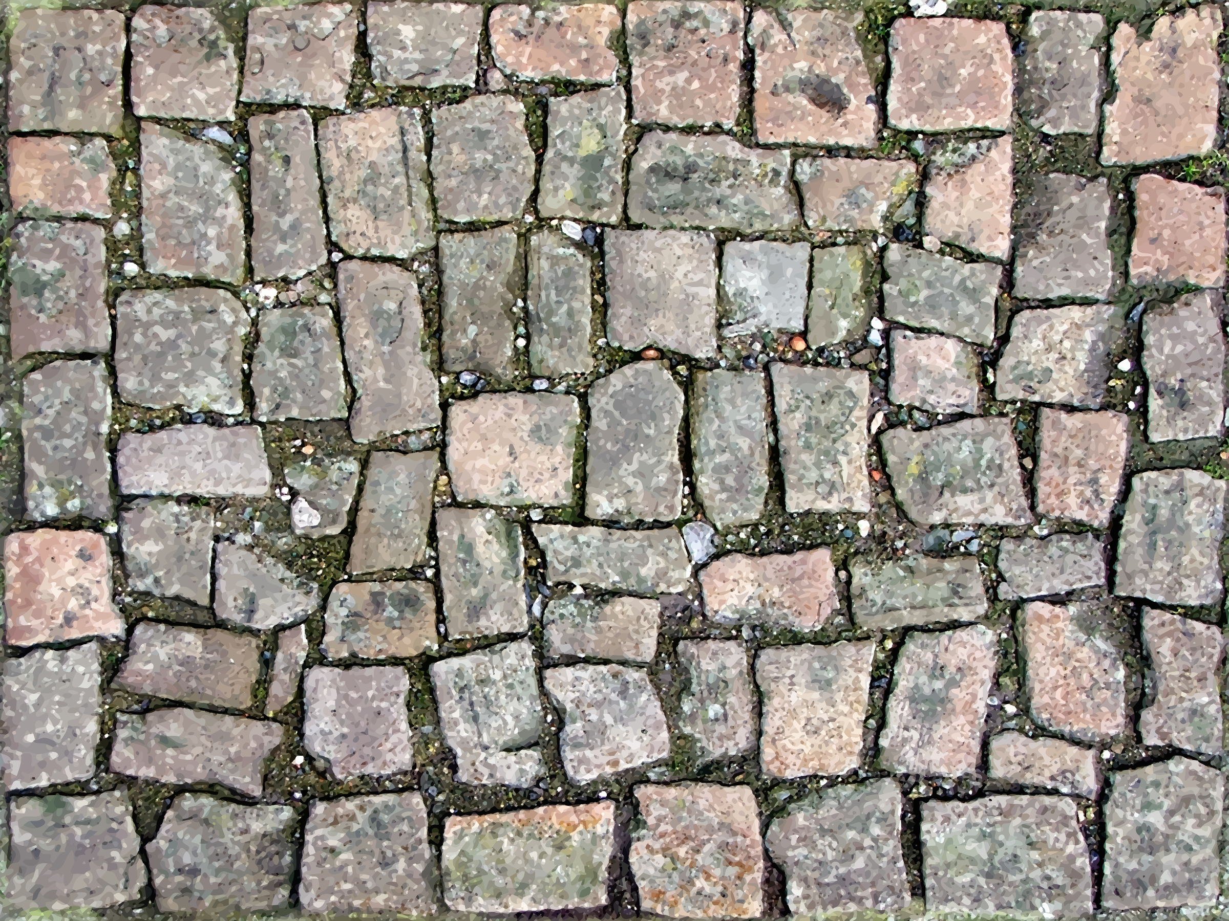 Tiled stones 2 by Firkin