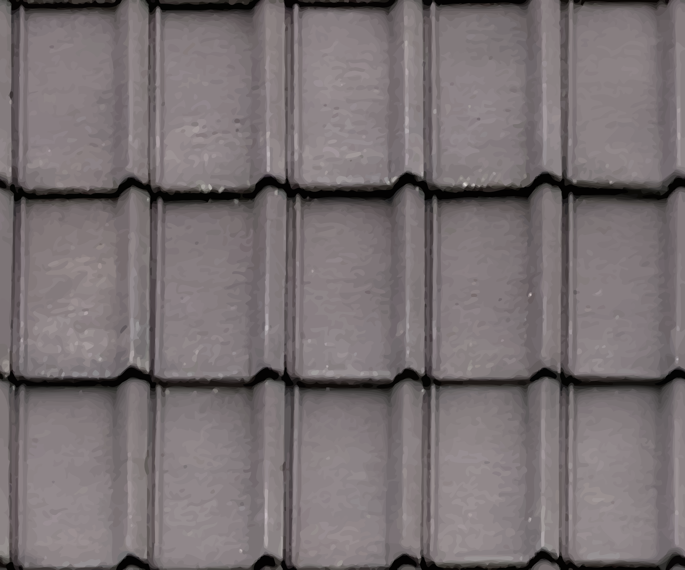Clipart - Ribbed roof tiles 2