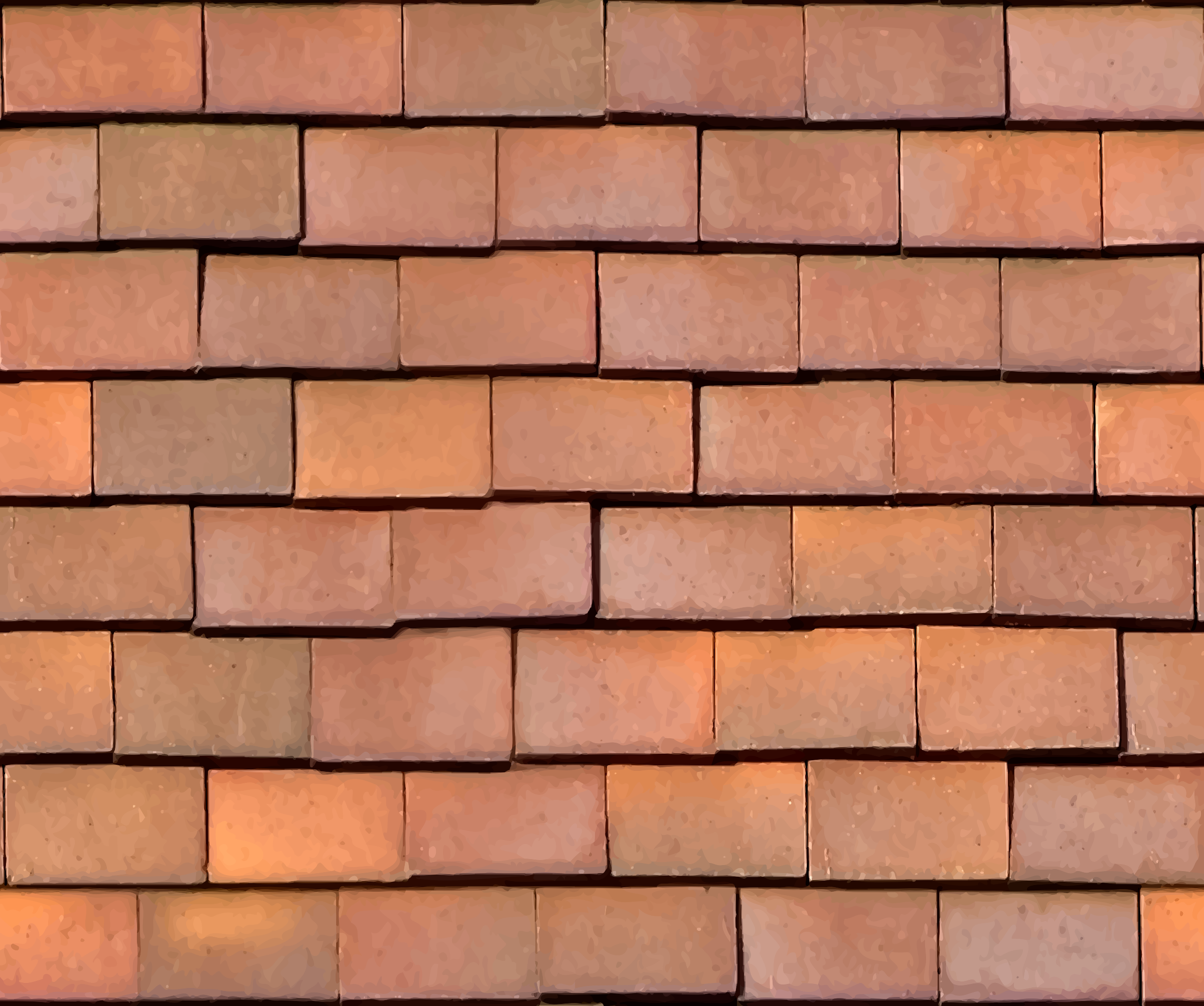 Loose clay roof tiles by Firkin