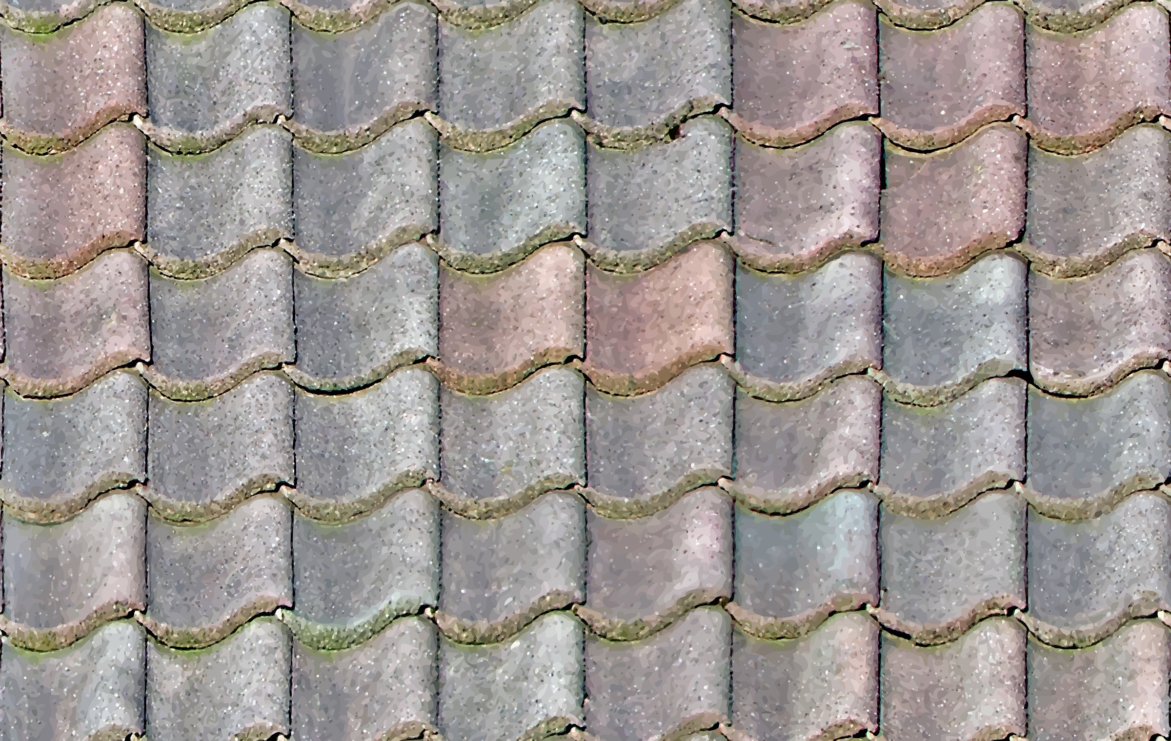 Wavy roof tiles by Firkin