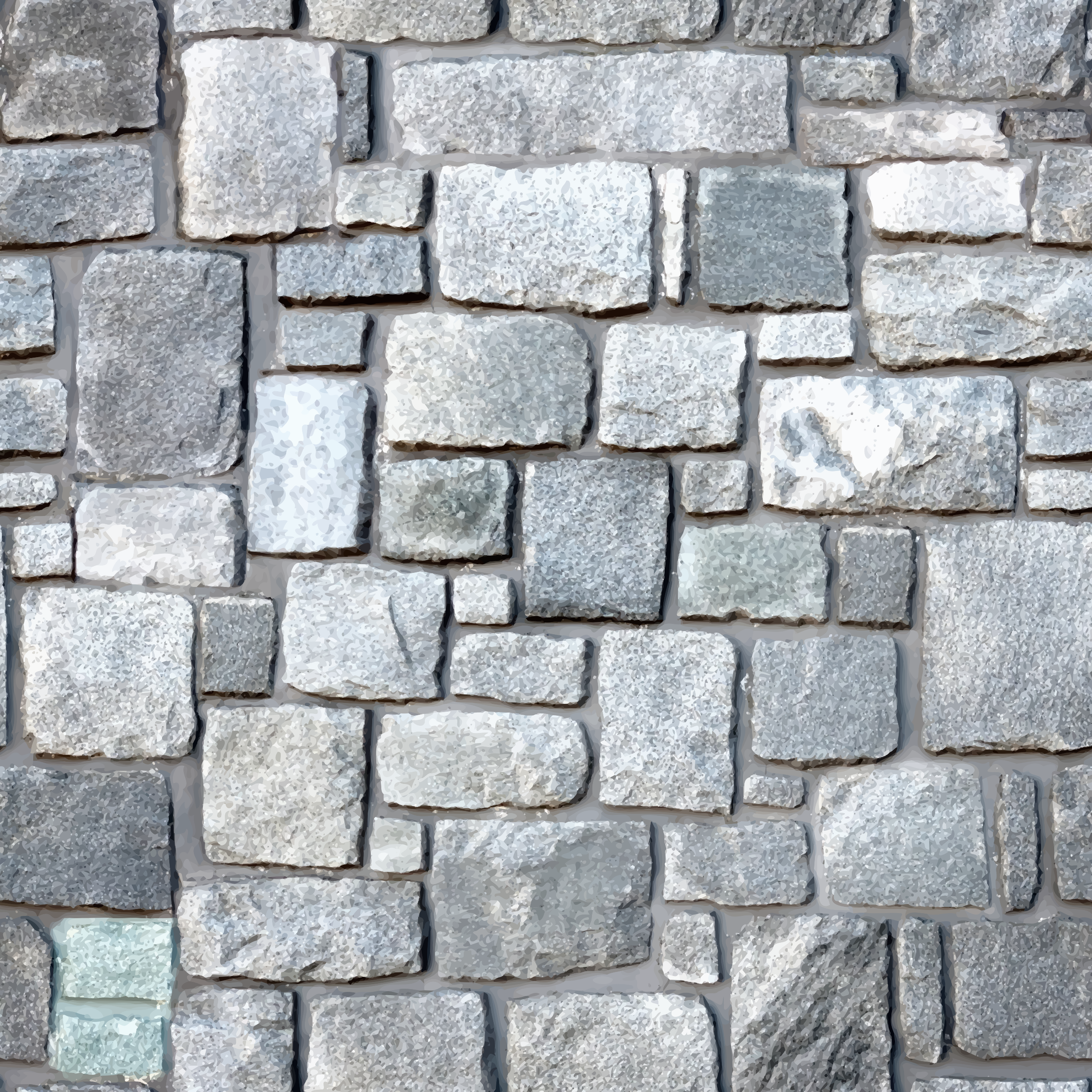 Irregular stone blocks by Firkin