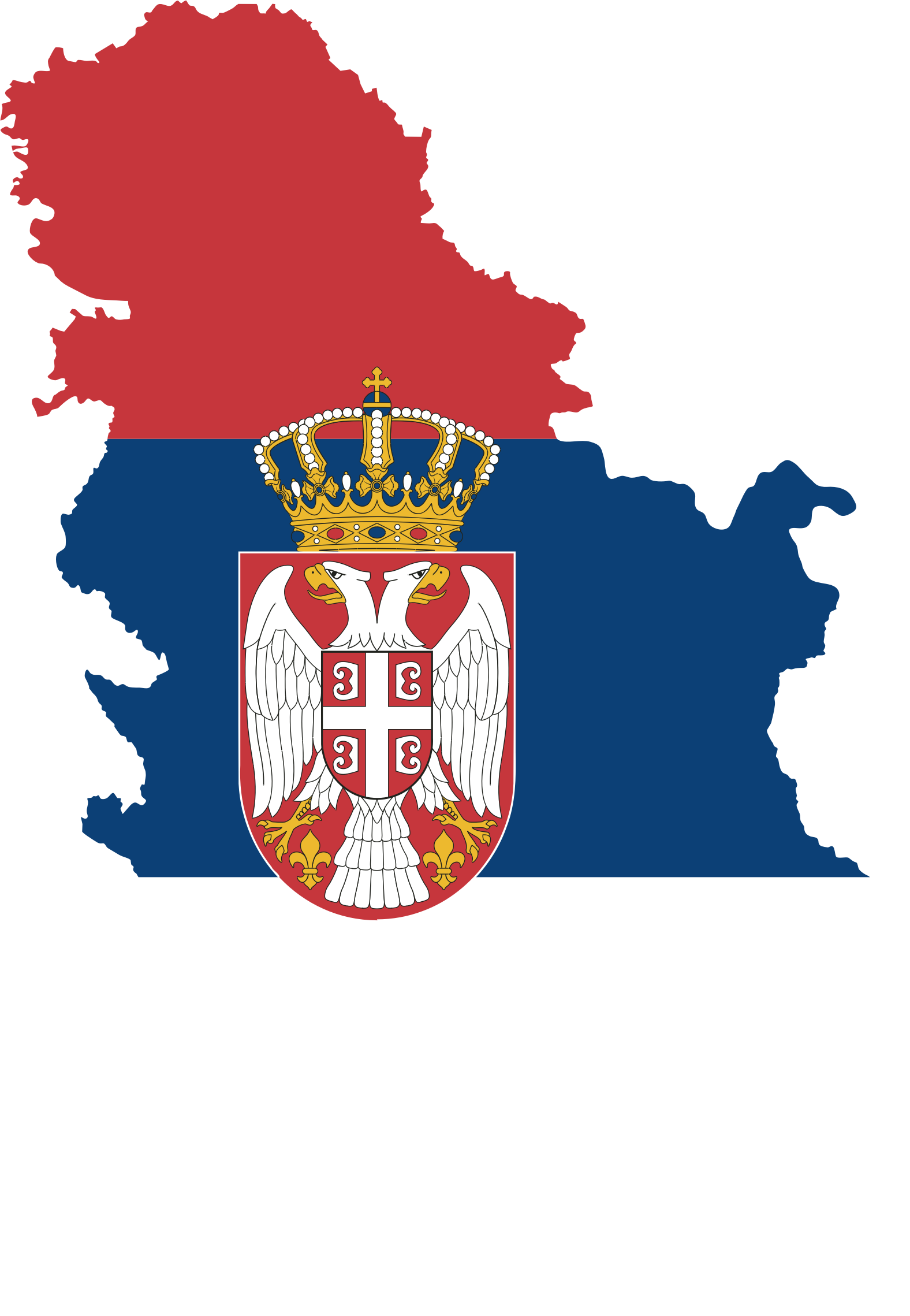 Serbia Map Flag Fixed by GDJ