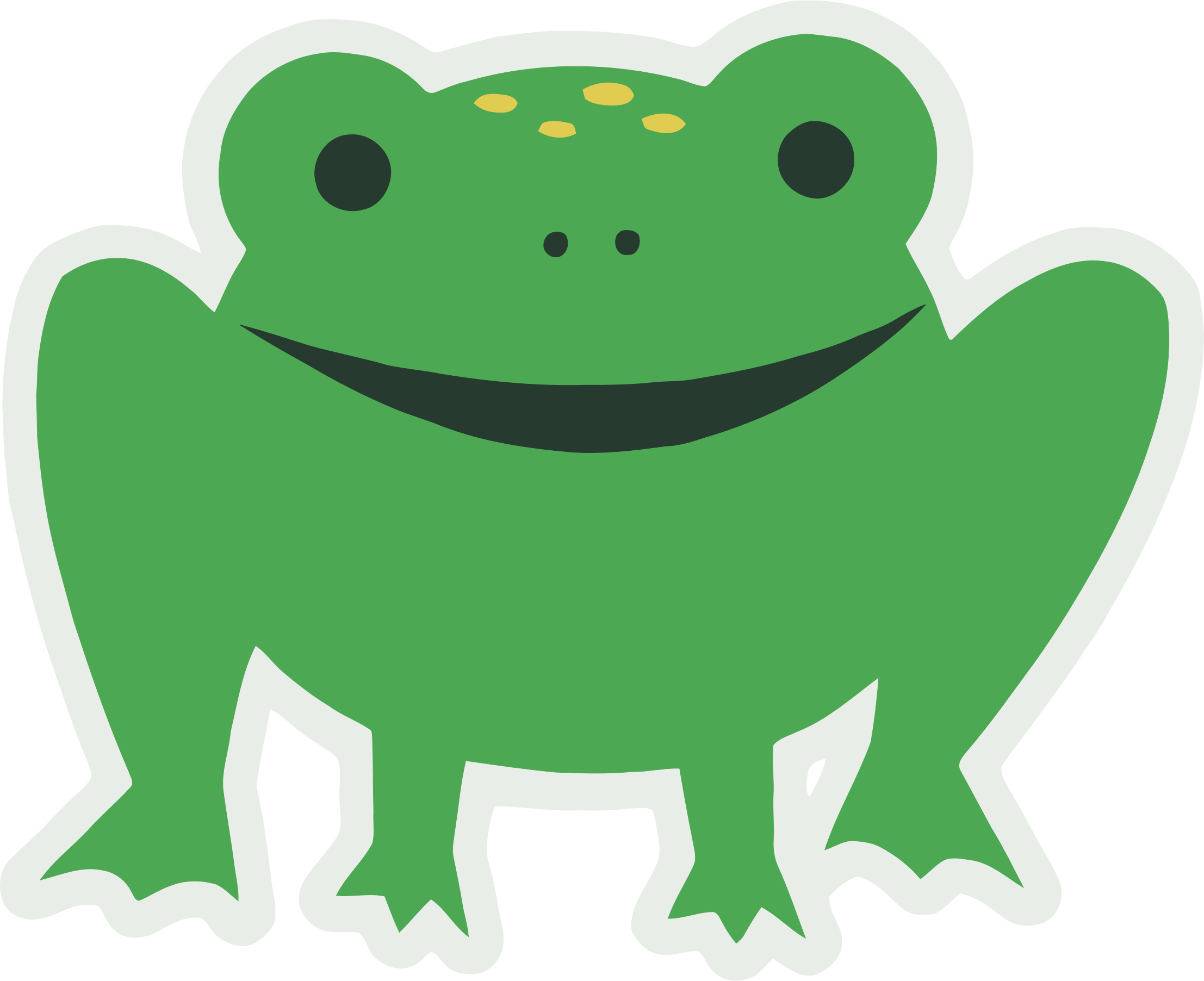 Cartoony Frog by GDJ