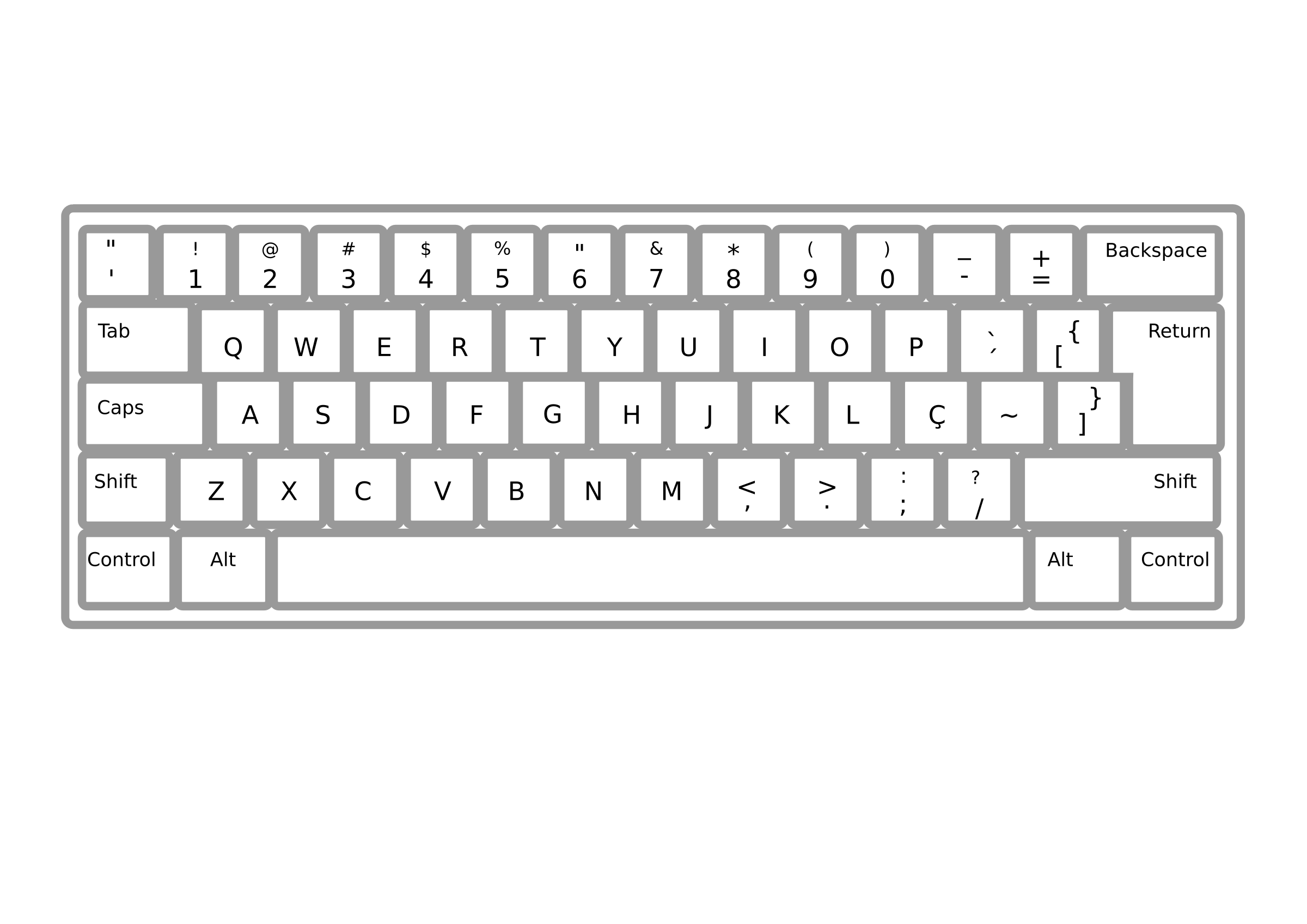 Keyboard ABNT2 Pt Br by Minduka