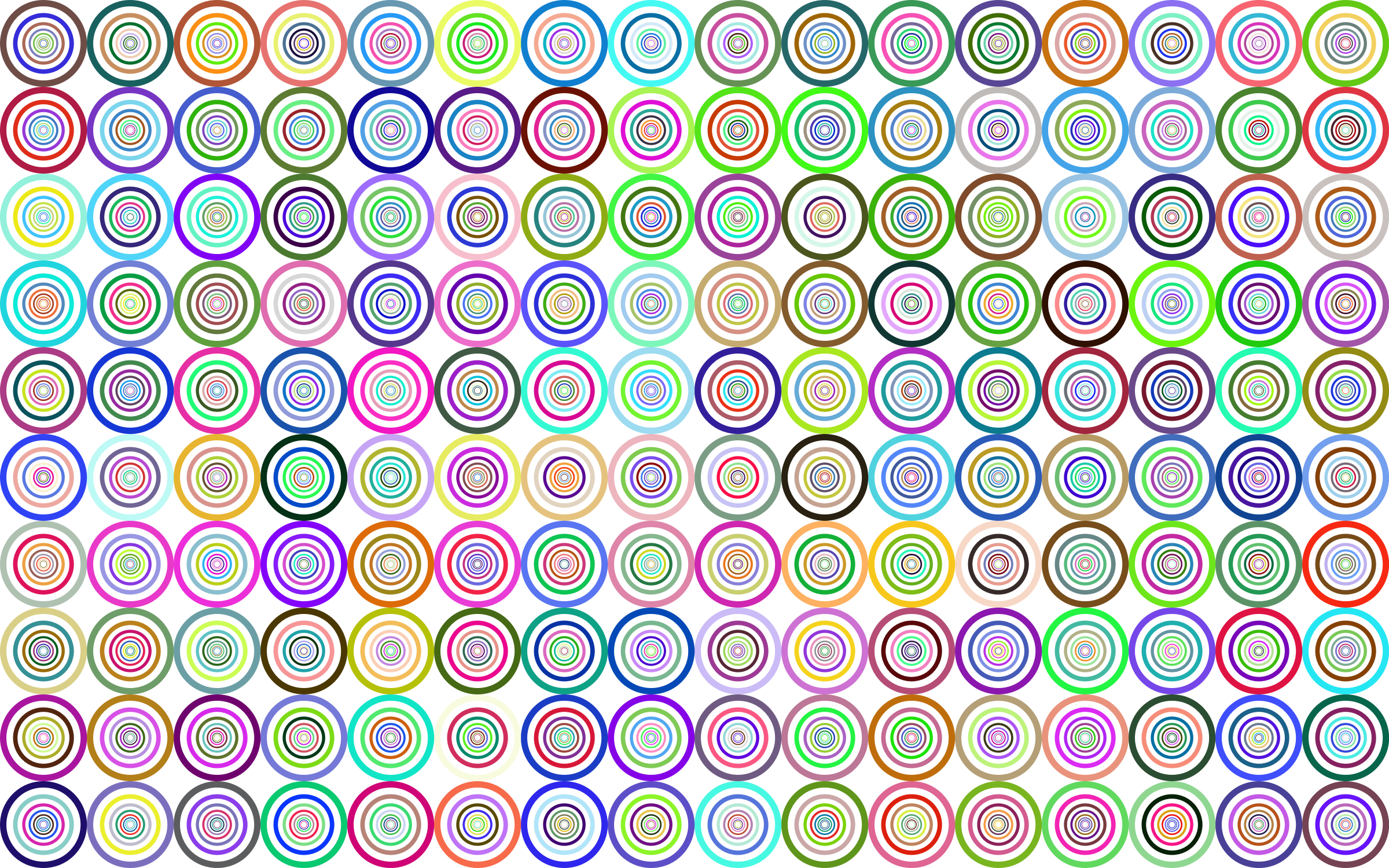 Prismatic Groovy Concentric Background No Black by GDJ