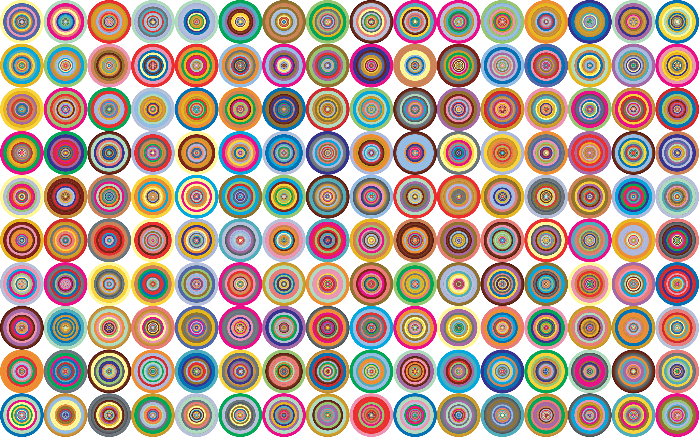 Prismatic Groovy Concentric Background 2 No Black by GDJ