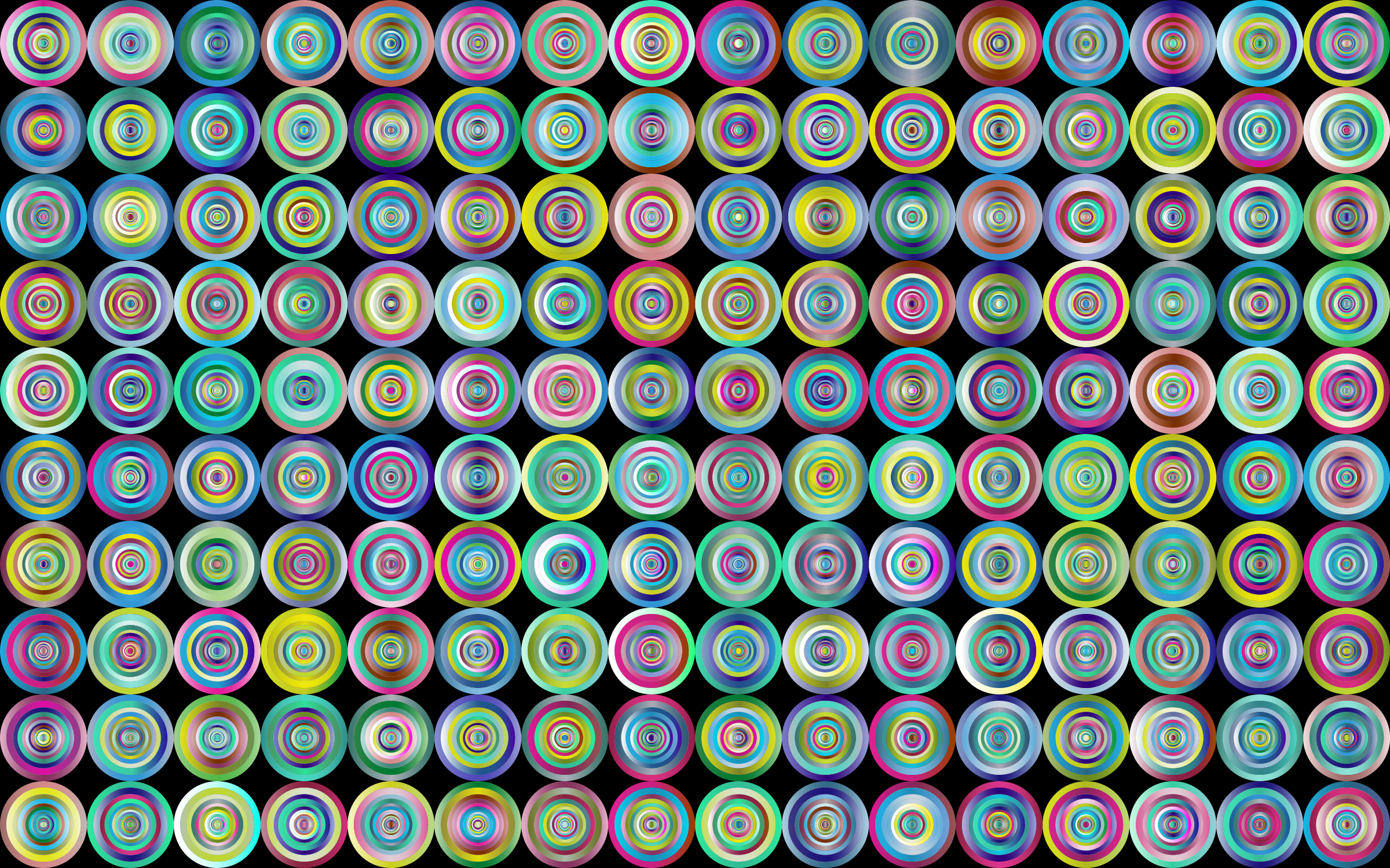Prismatic Groovy Concentric Background 3 by GDJ