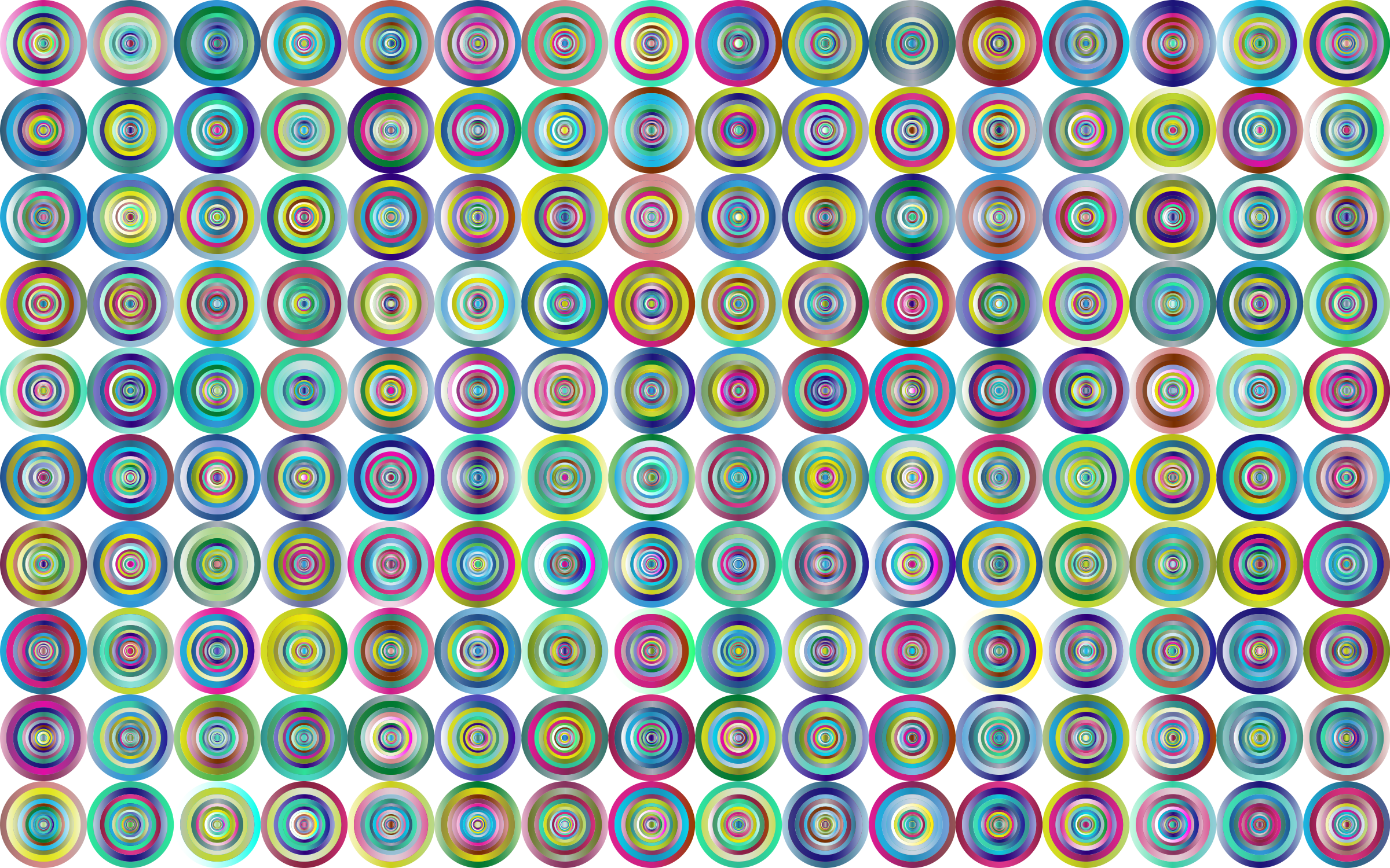 Prismatic Groovy Concentric Background 3 No Black by GDJ