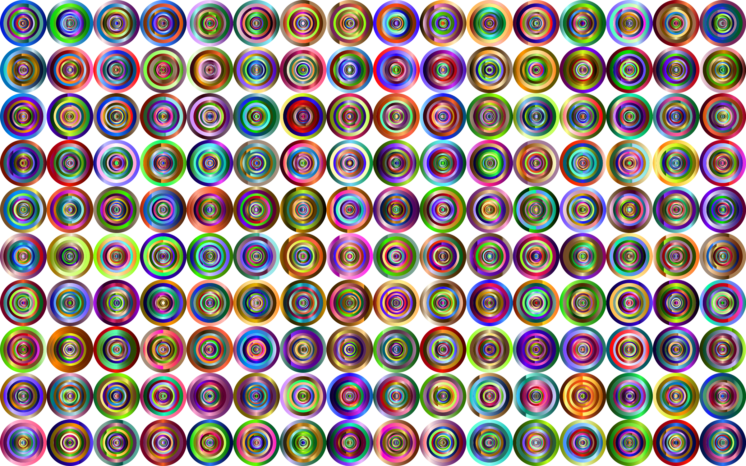 Prismatic Groovy Concentric Background 4 No Black by GDJ
