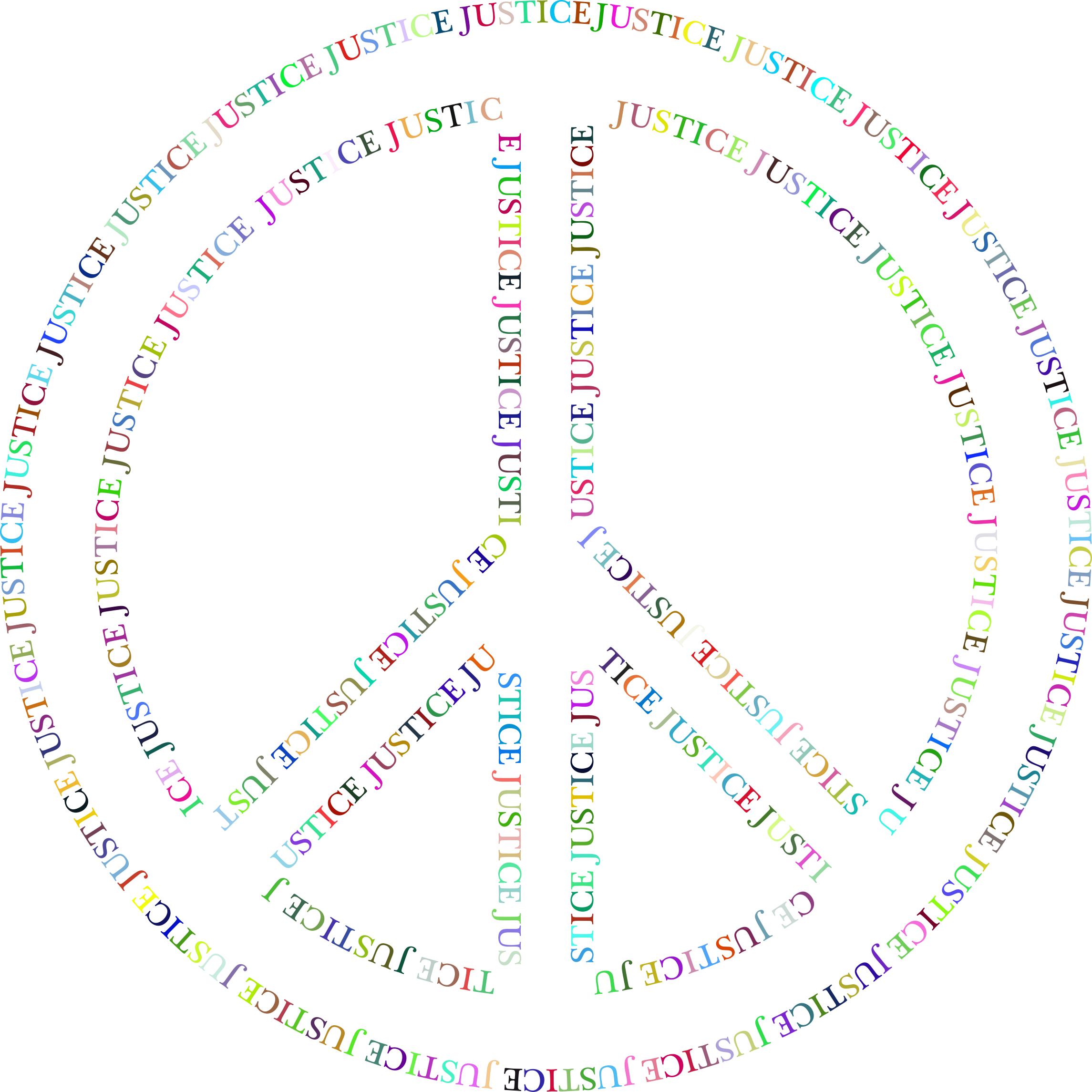 Prismatic Justice Peace Symbol No Background by GDJ