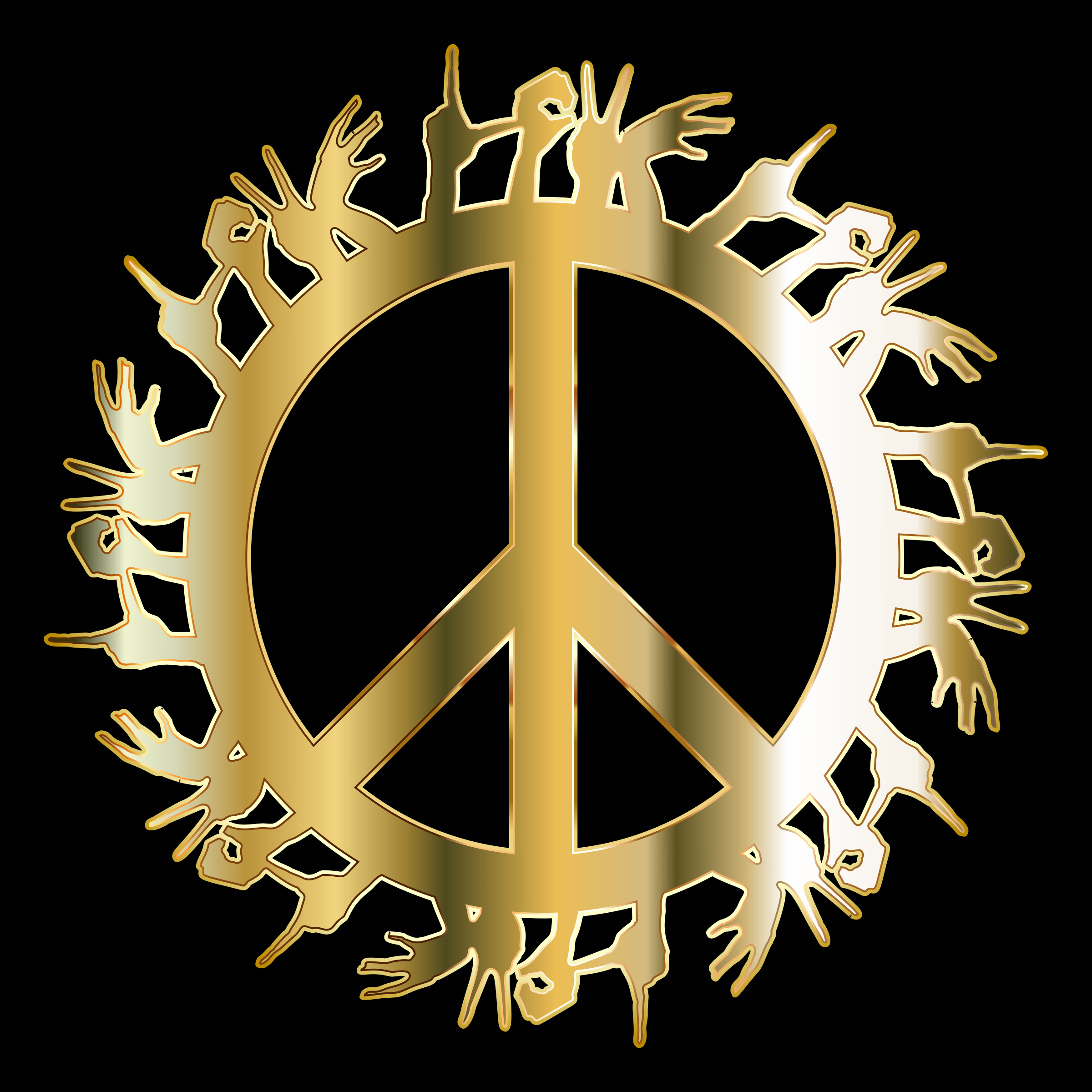 Gold Love Hands Peace by GDJ