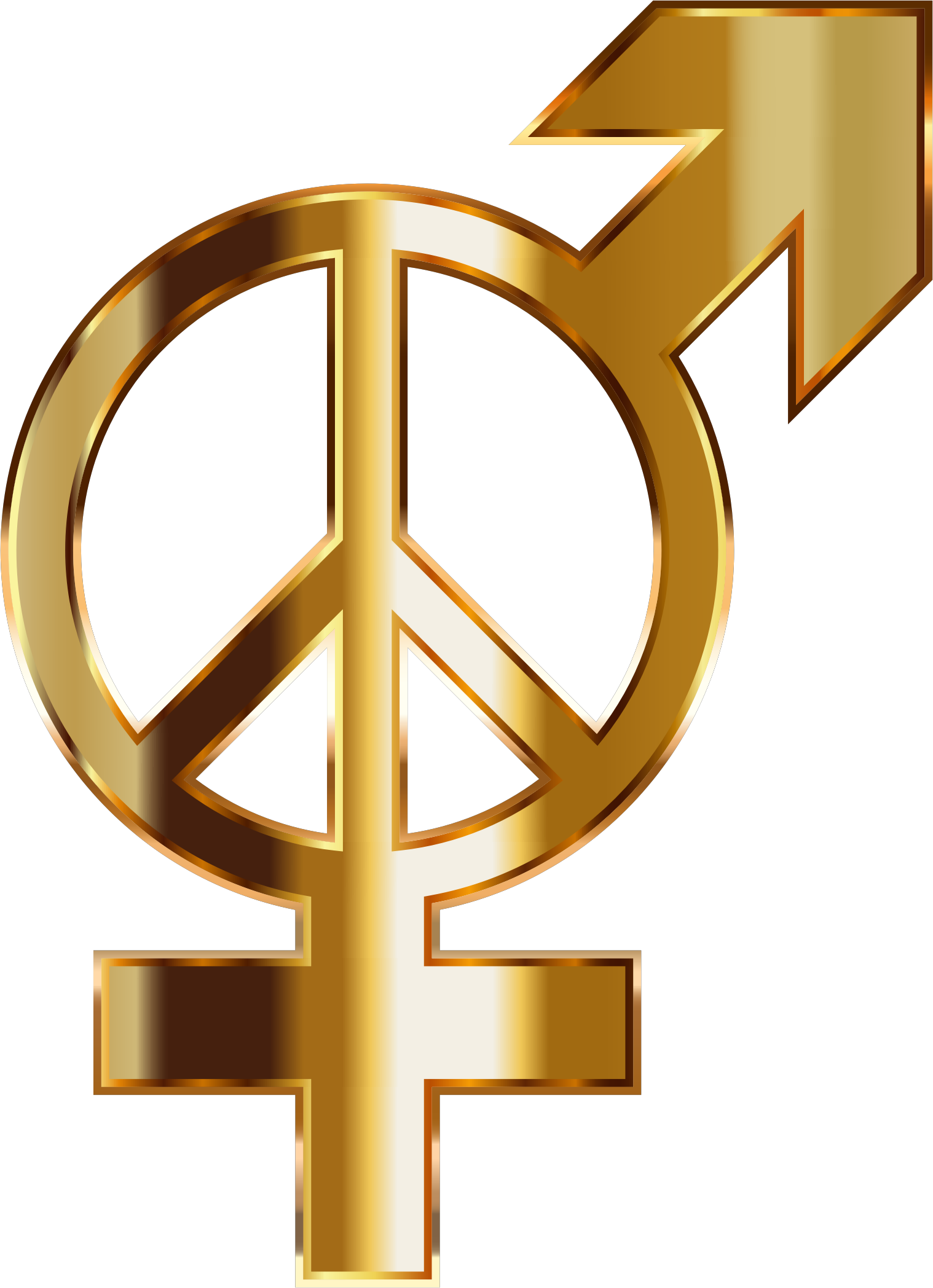 Gold Gender Peace No Background by GDJ