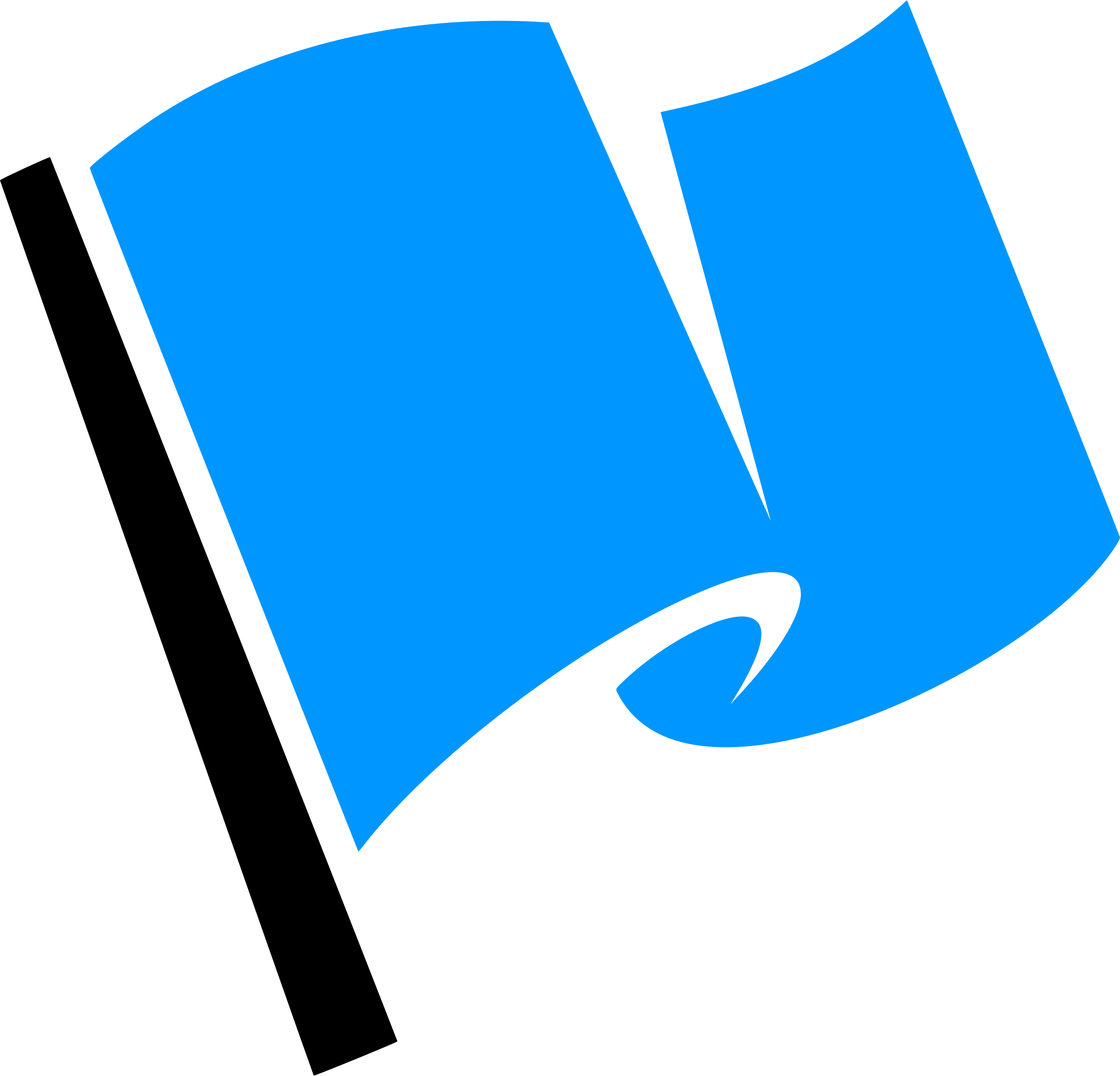Hirnlichtspiele's blue flag vectorized by Firkin