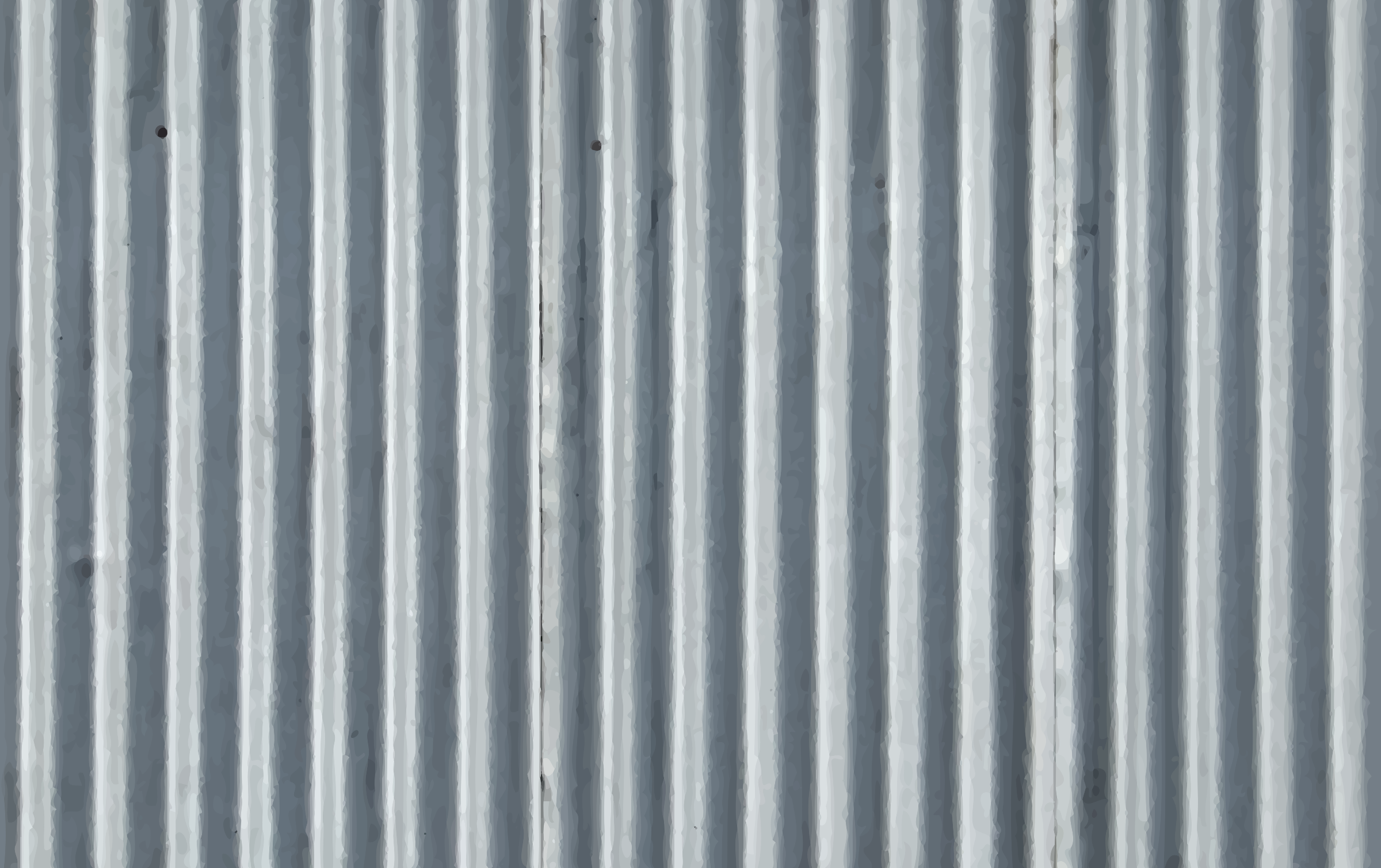 Corrugated metal 6 by Firkin