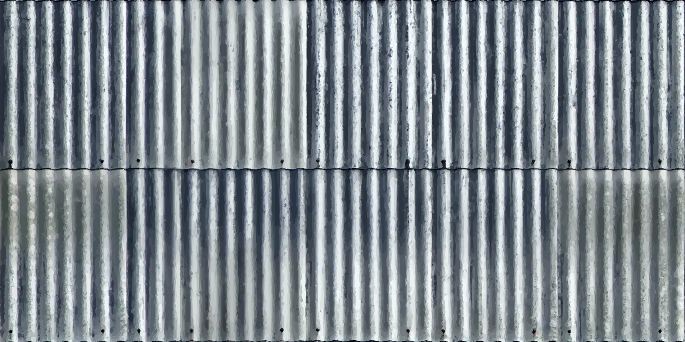 Corrugated metal 7 by Firkin