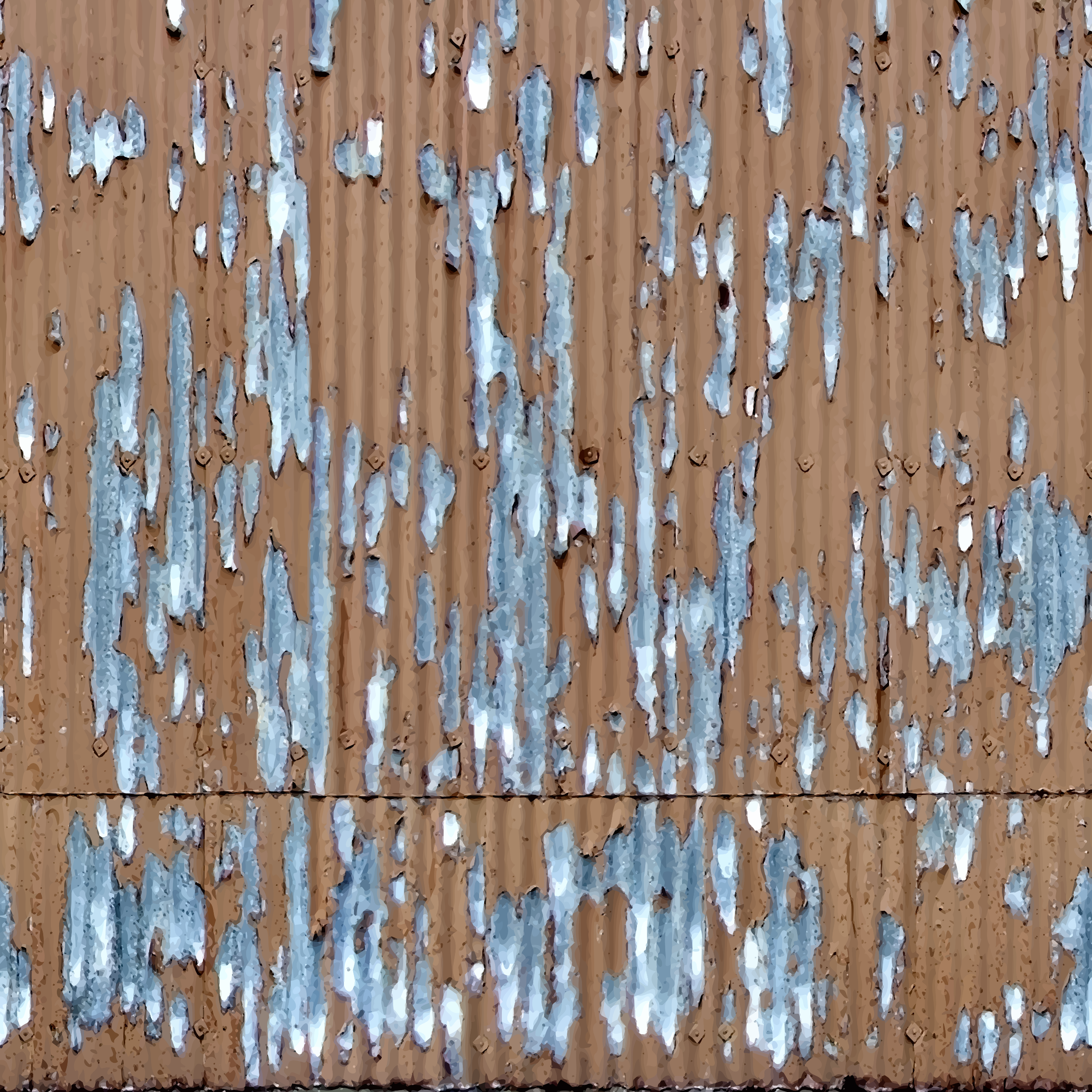 Corrugated metal 13 by Firkin