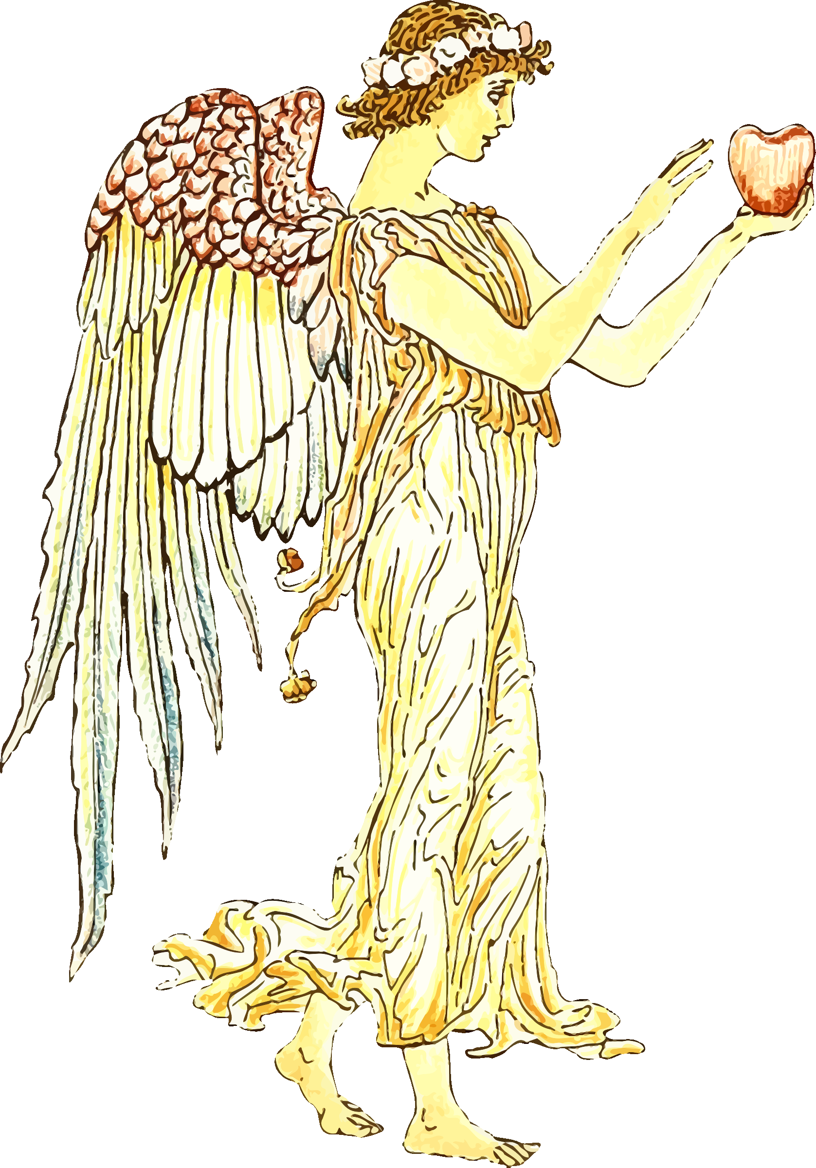 Angel with apple by Firkin