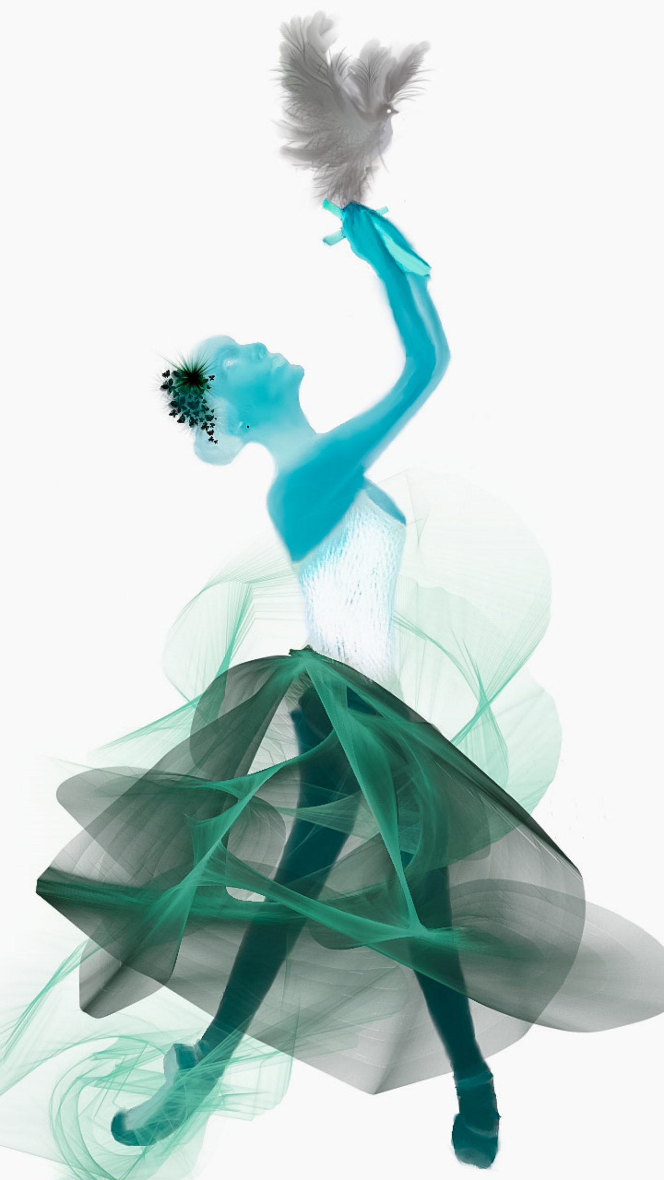 Ballet Blue-Green Dove Ballerina Suite by Ariel-Arts
