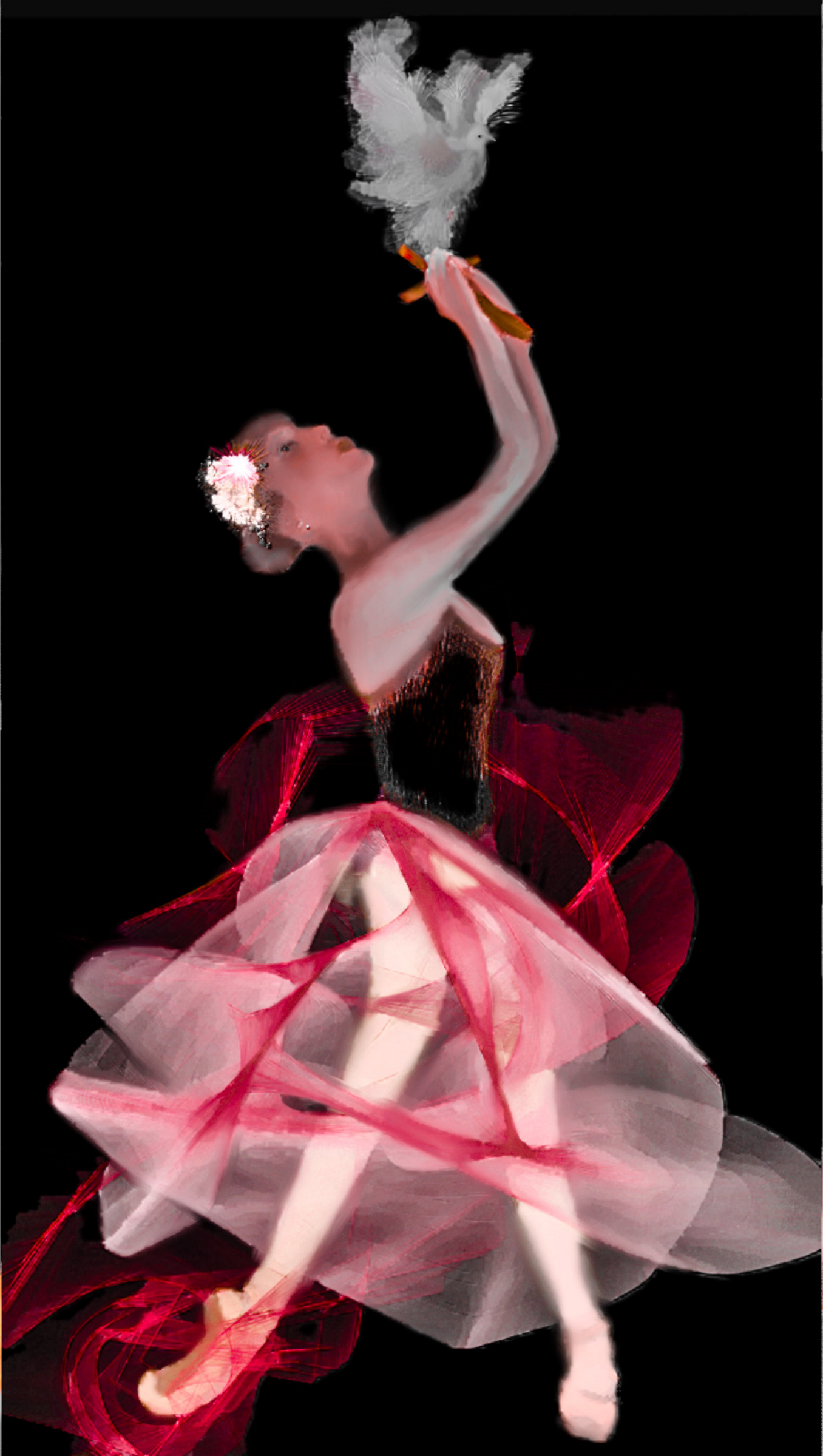 Ballet Festival Red Dove Ballerina Suite by Ariel-Arts