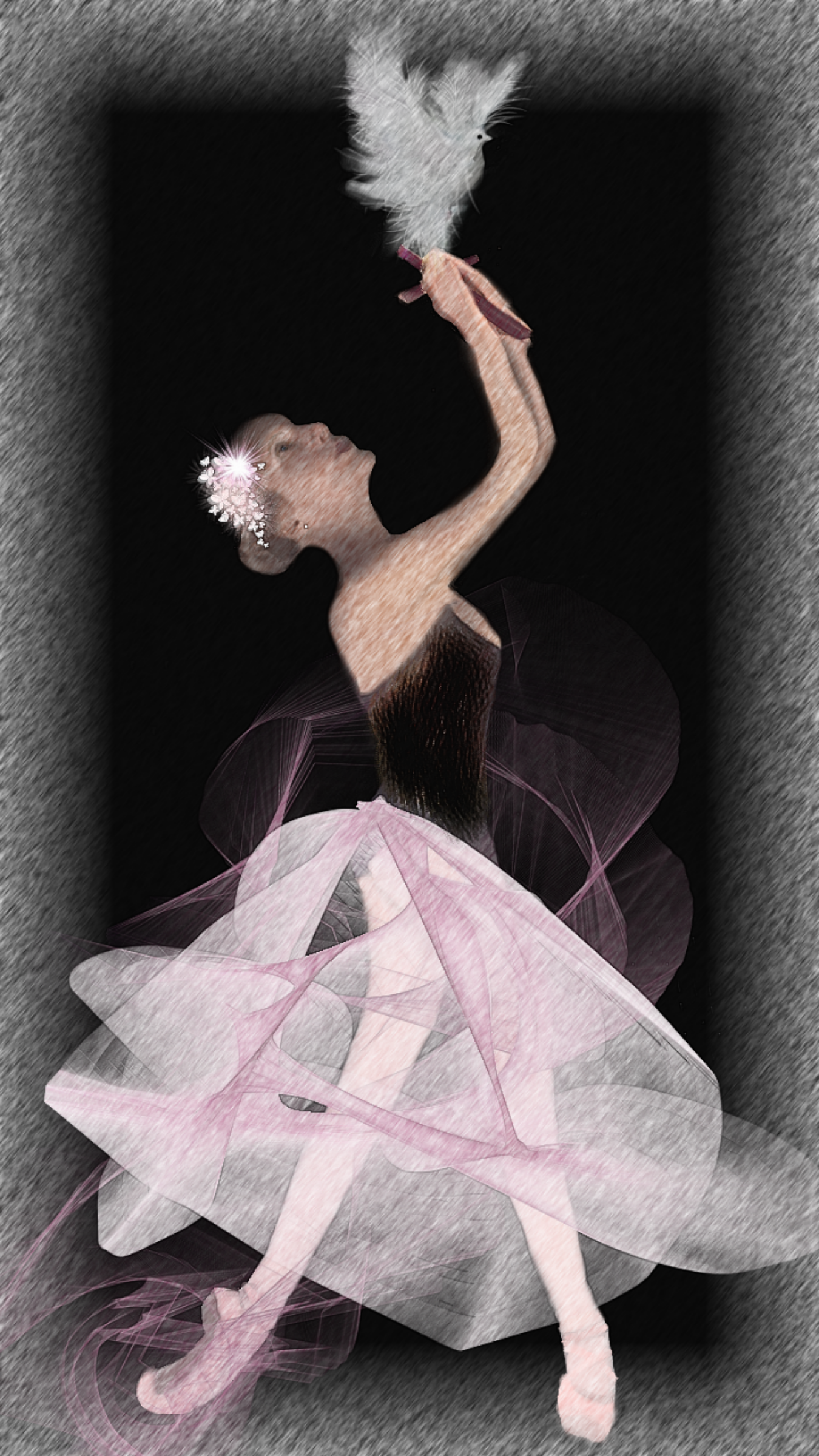 Ballet Framed Pale Dove Ballerina Suite by Ariel-Arts