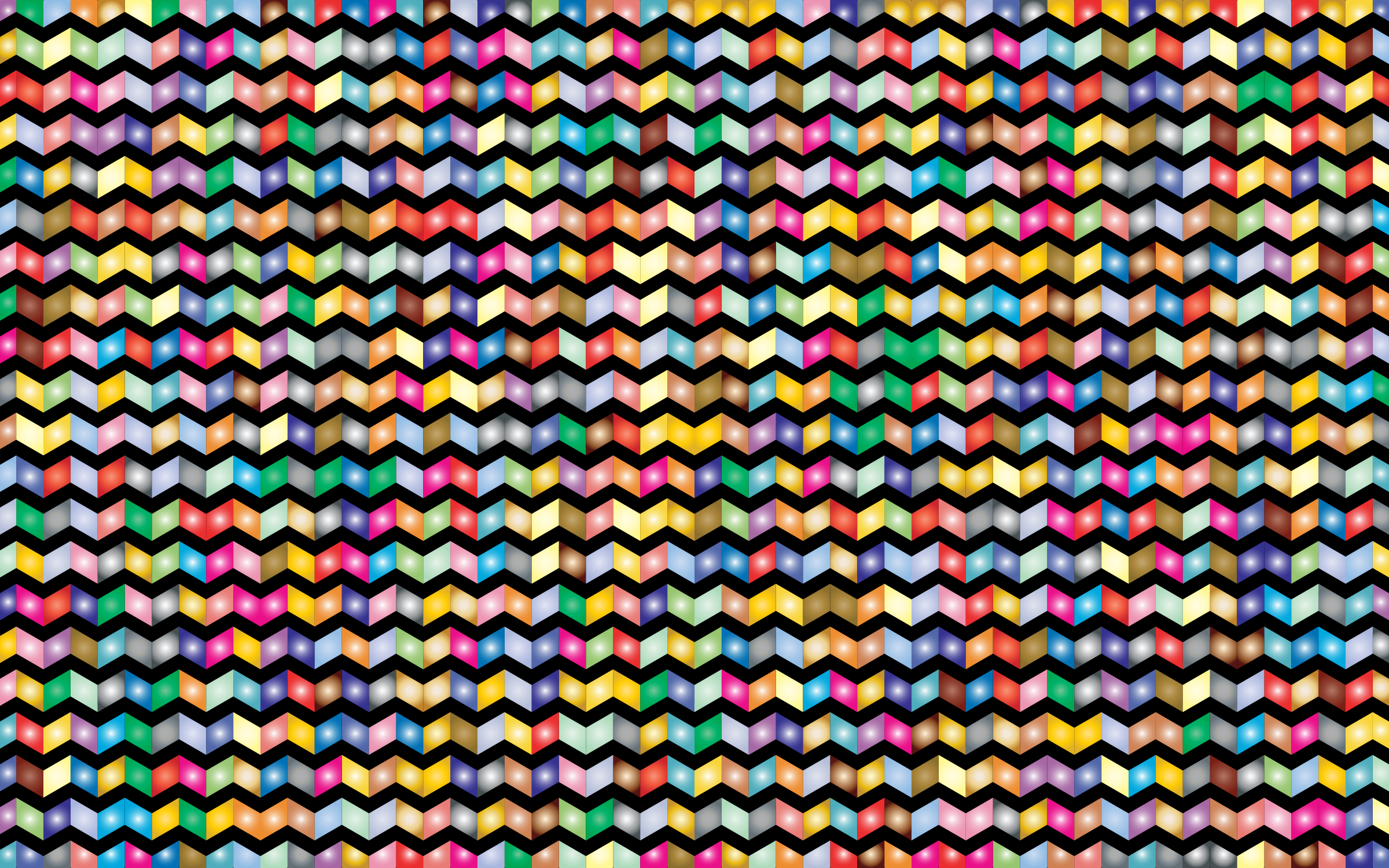 Prismatic Chevrons Pattern 2 With Background by GDJ