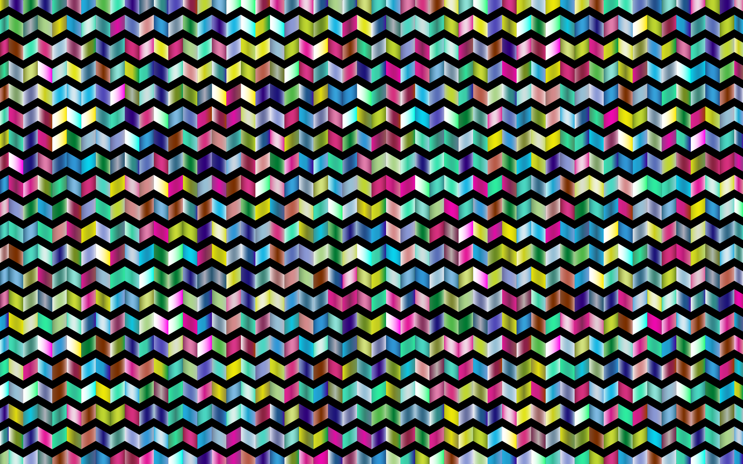 Prismatic Chevrons Pattern 3 With Background by GDJ