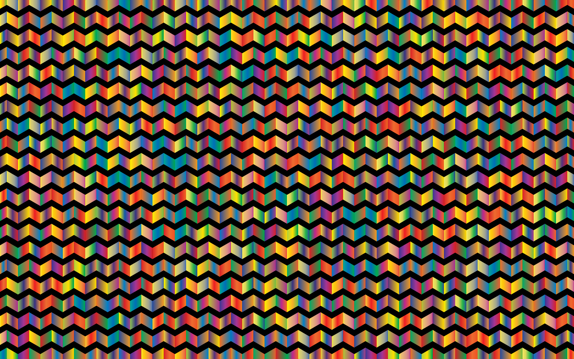 Prismatic Chevrons Pattern 4 With Background by GDJ
