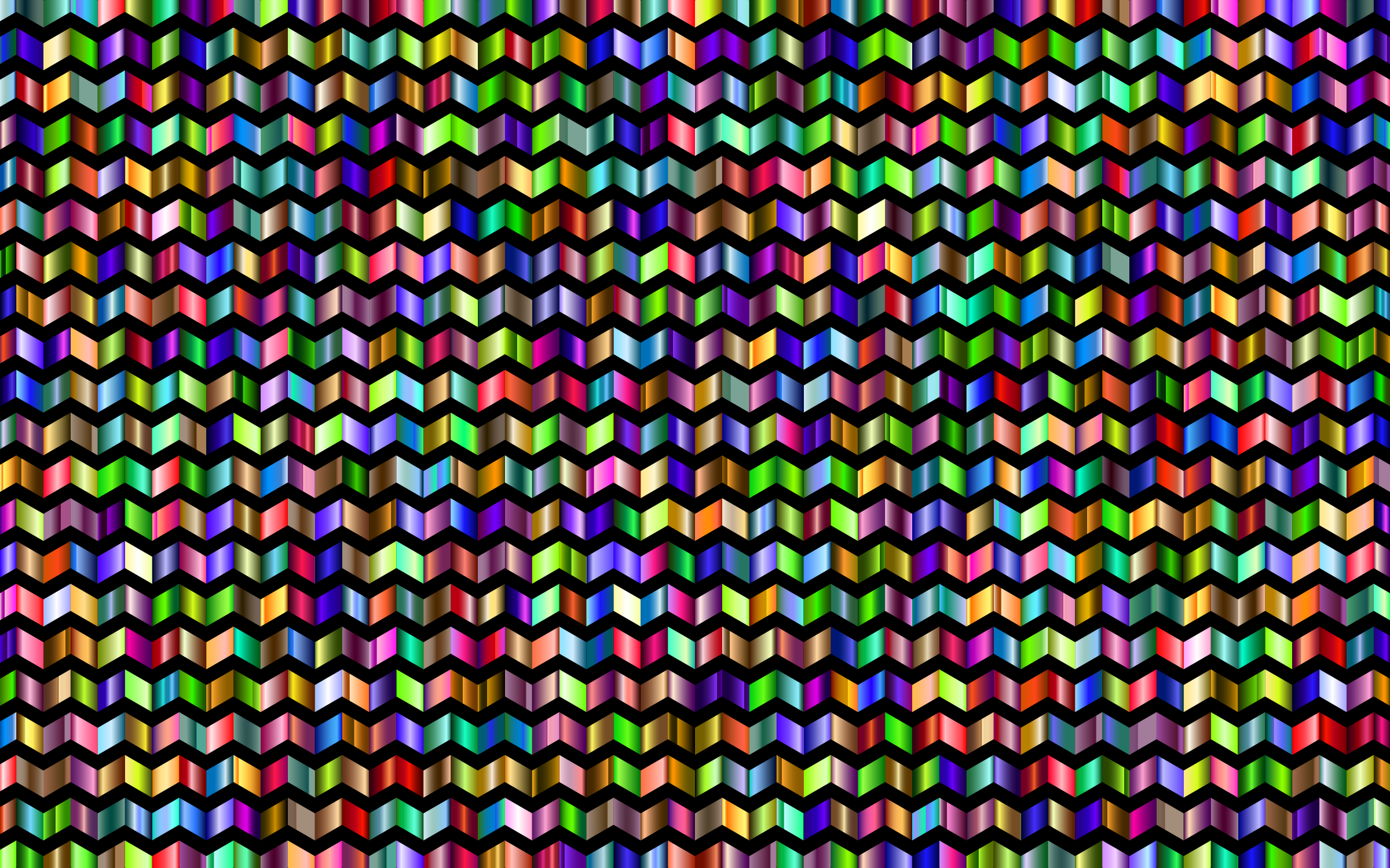 Prismatic Chevrons Pattern 6 With Background by GDJ