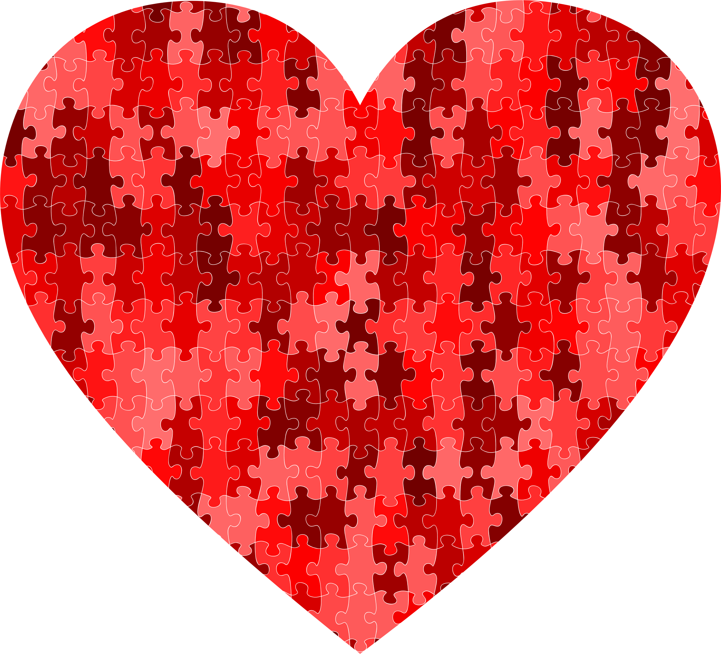 Red puzzle heart by Firkin