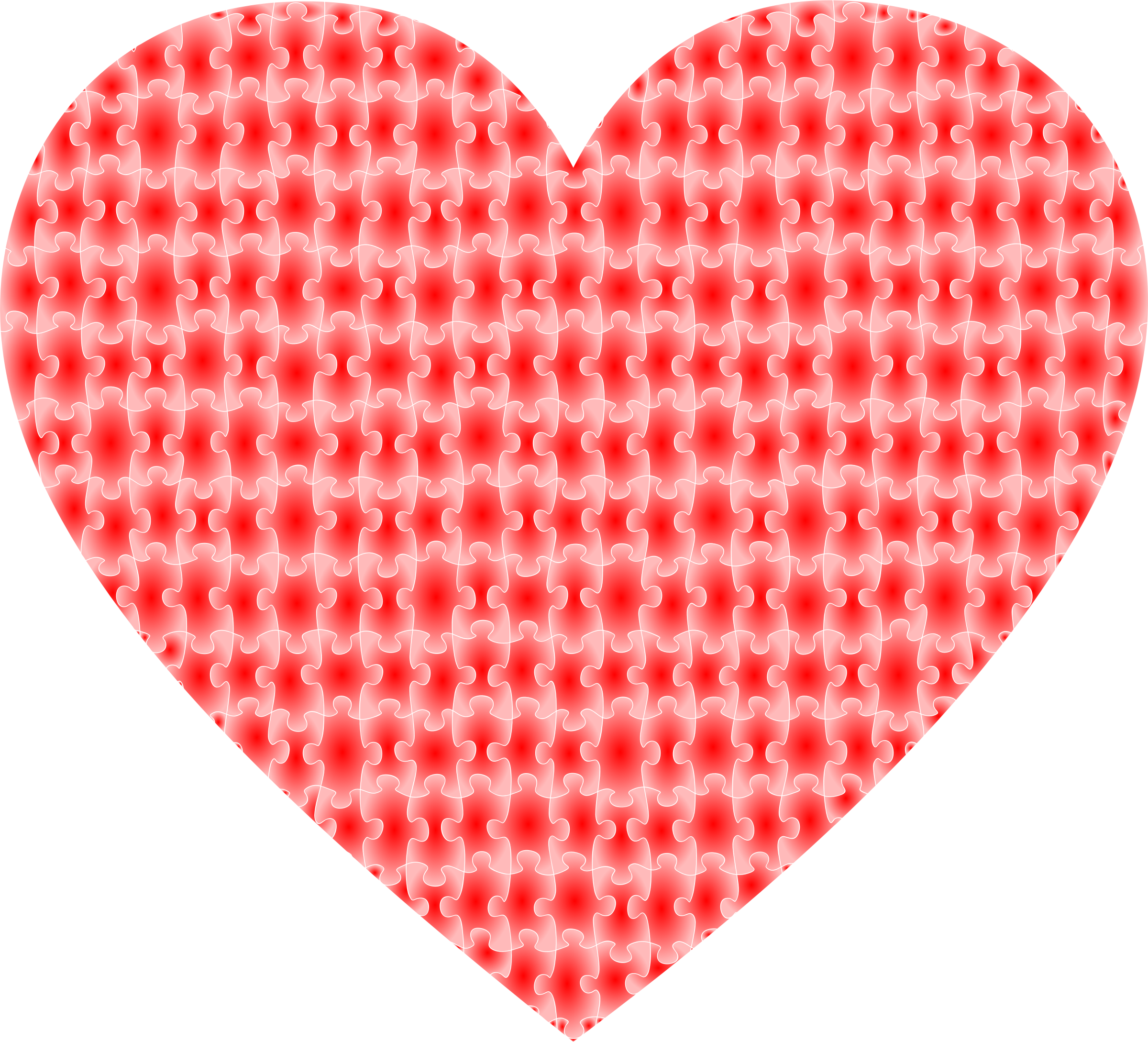 Red puzzle heart 4 by Firkin
