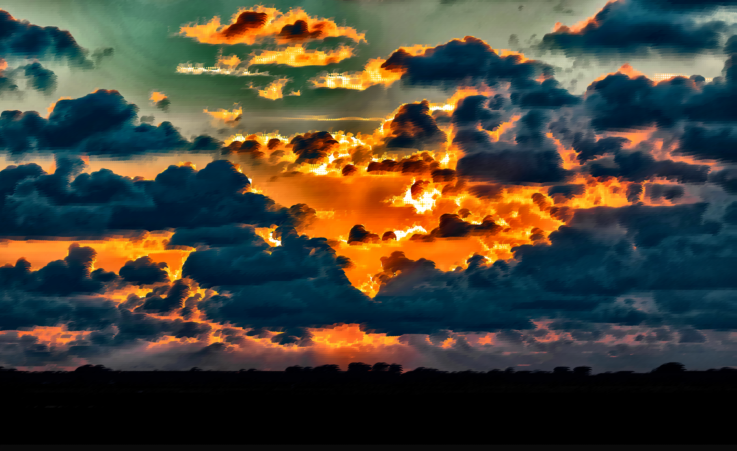 Surreal Evening Sky by GDJ