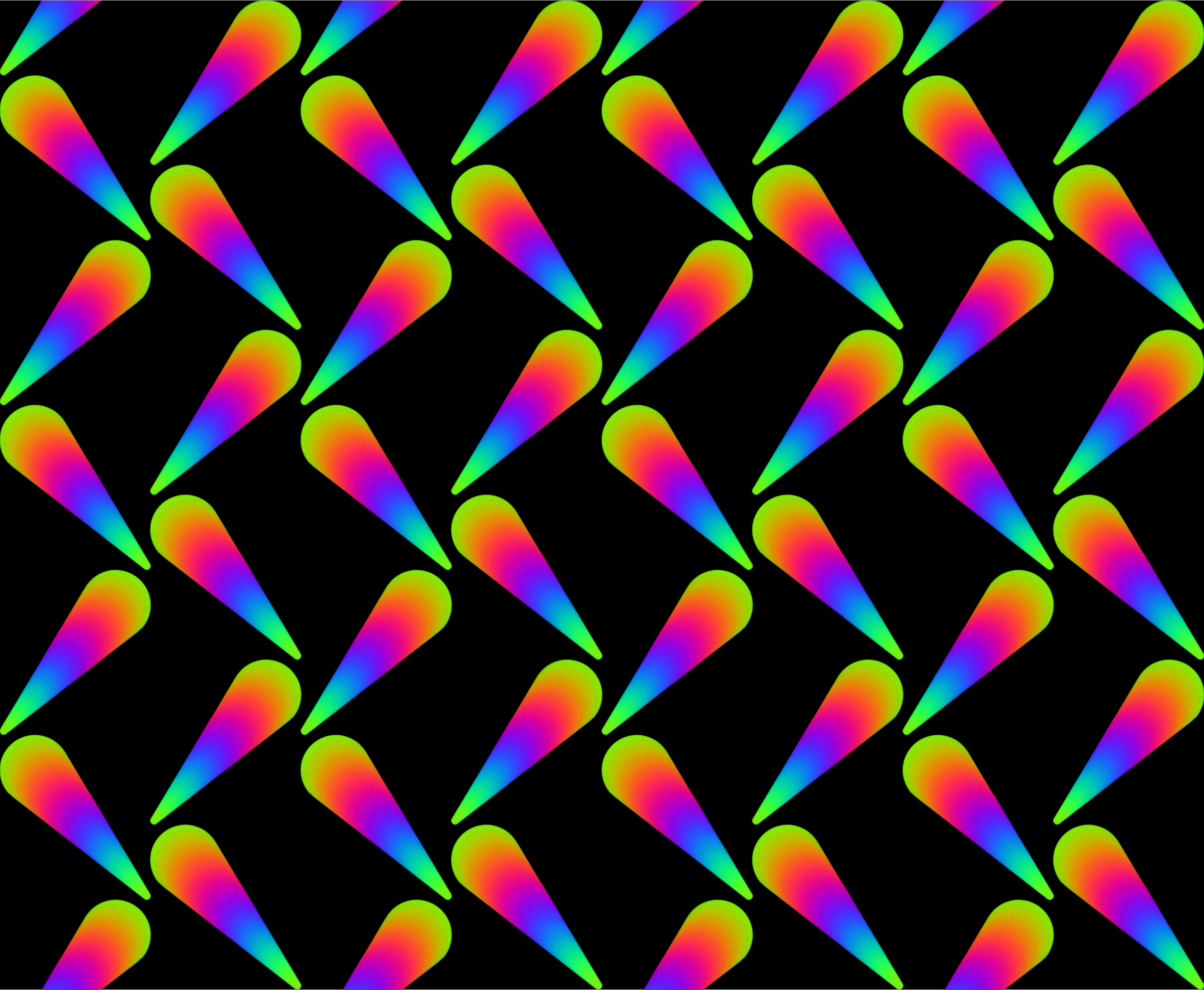 Colourful pattern (black background) by Firkin