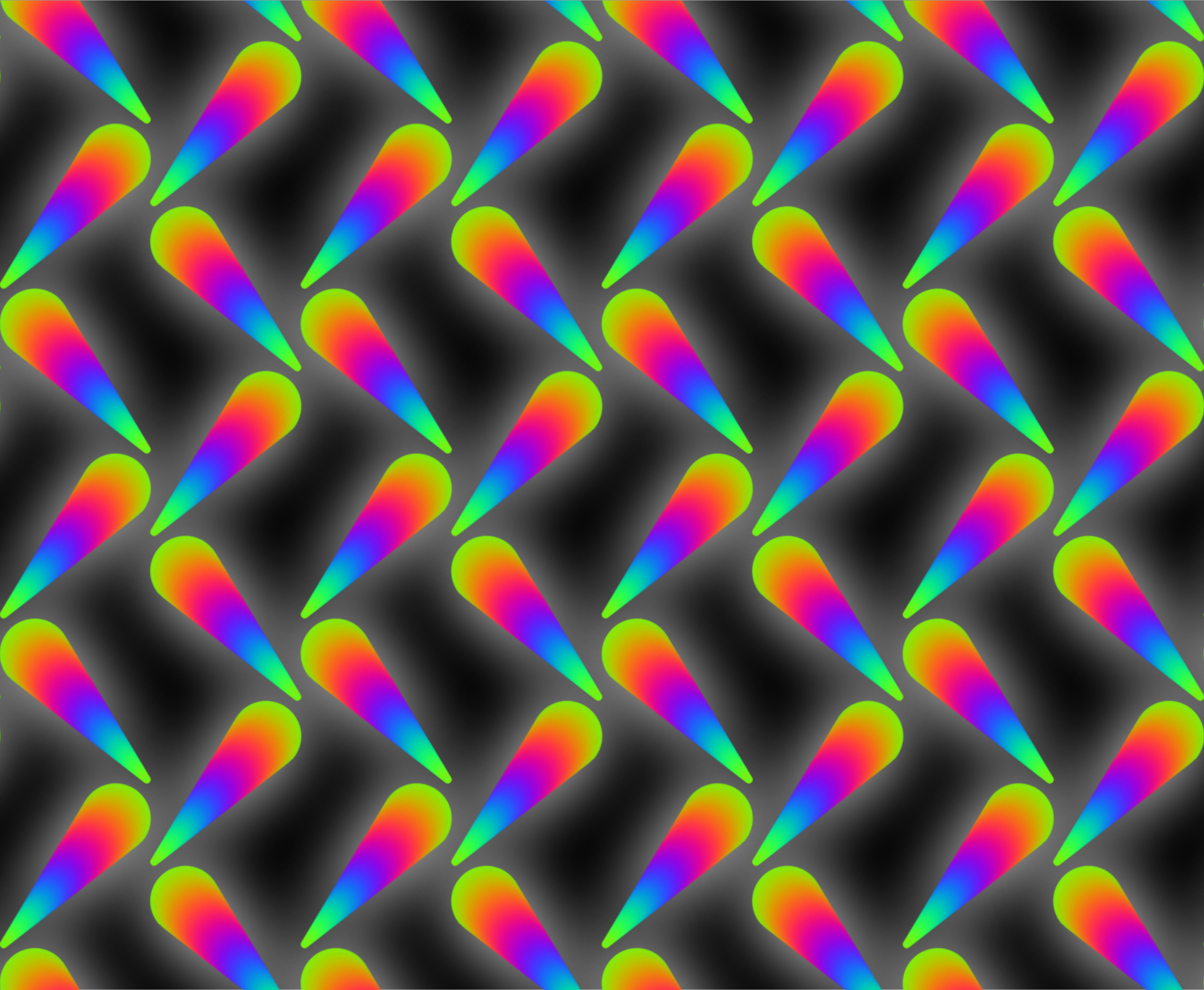 Colourful pattern 2 (black background) by Firkin