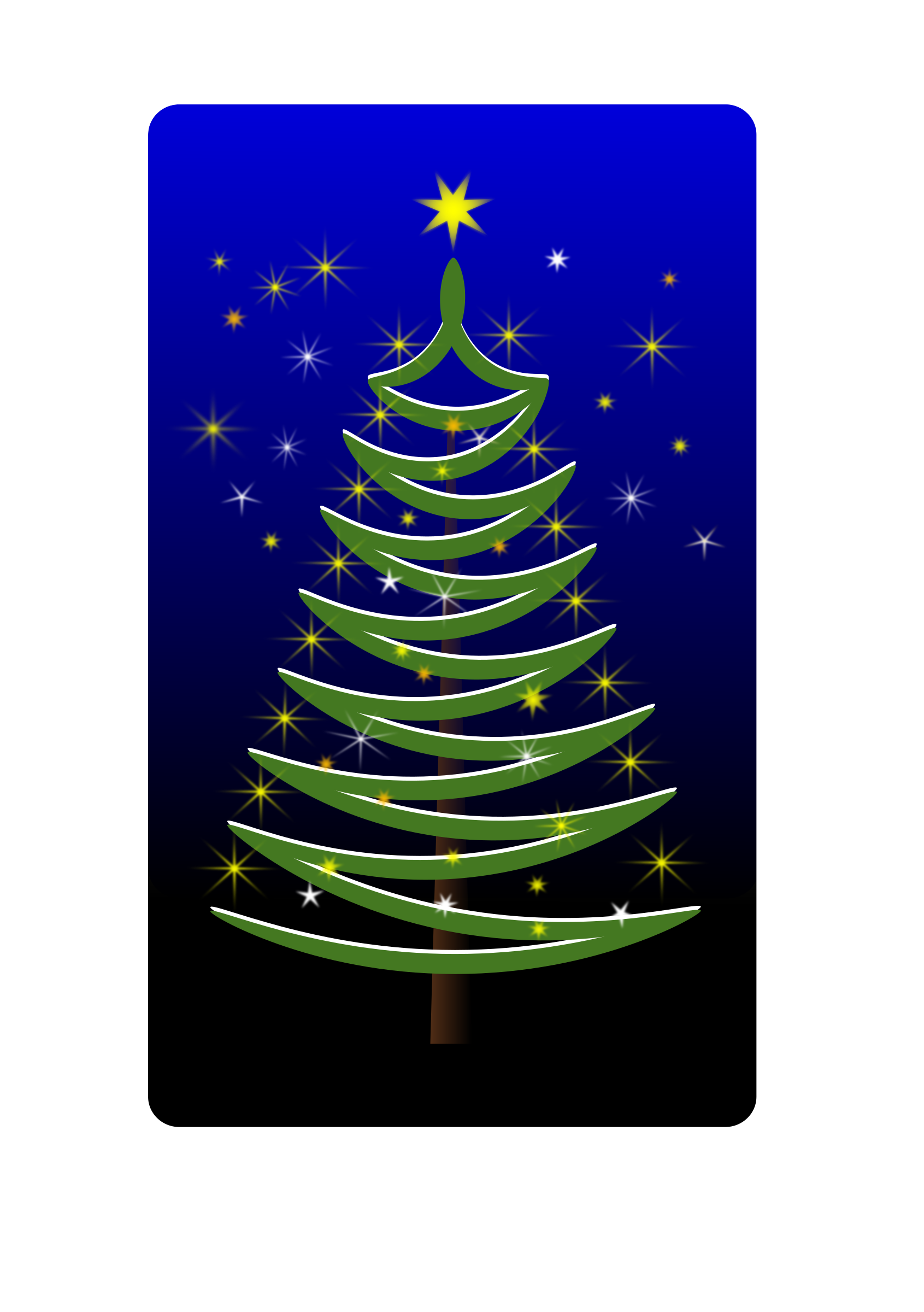 stylised christmas tree by Helm42