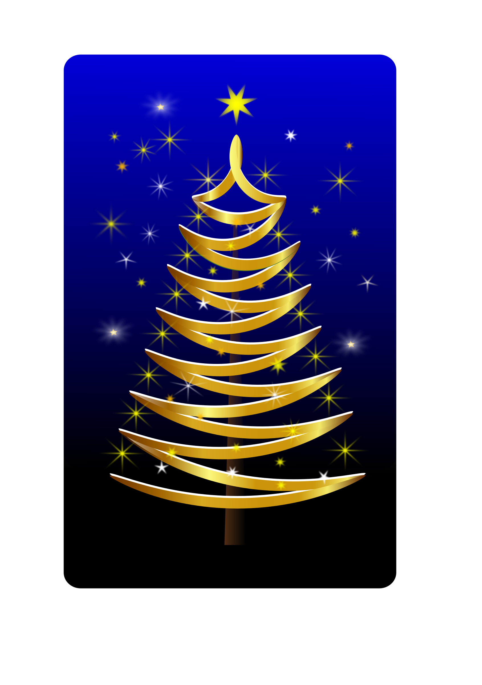 stylised xmas tree gold by Helm42