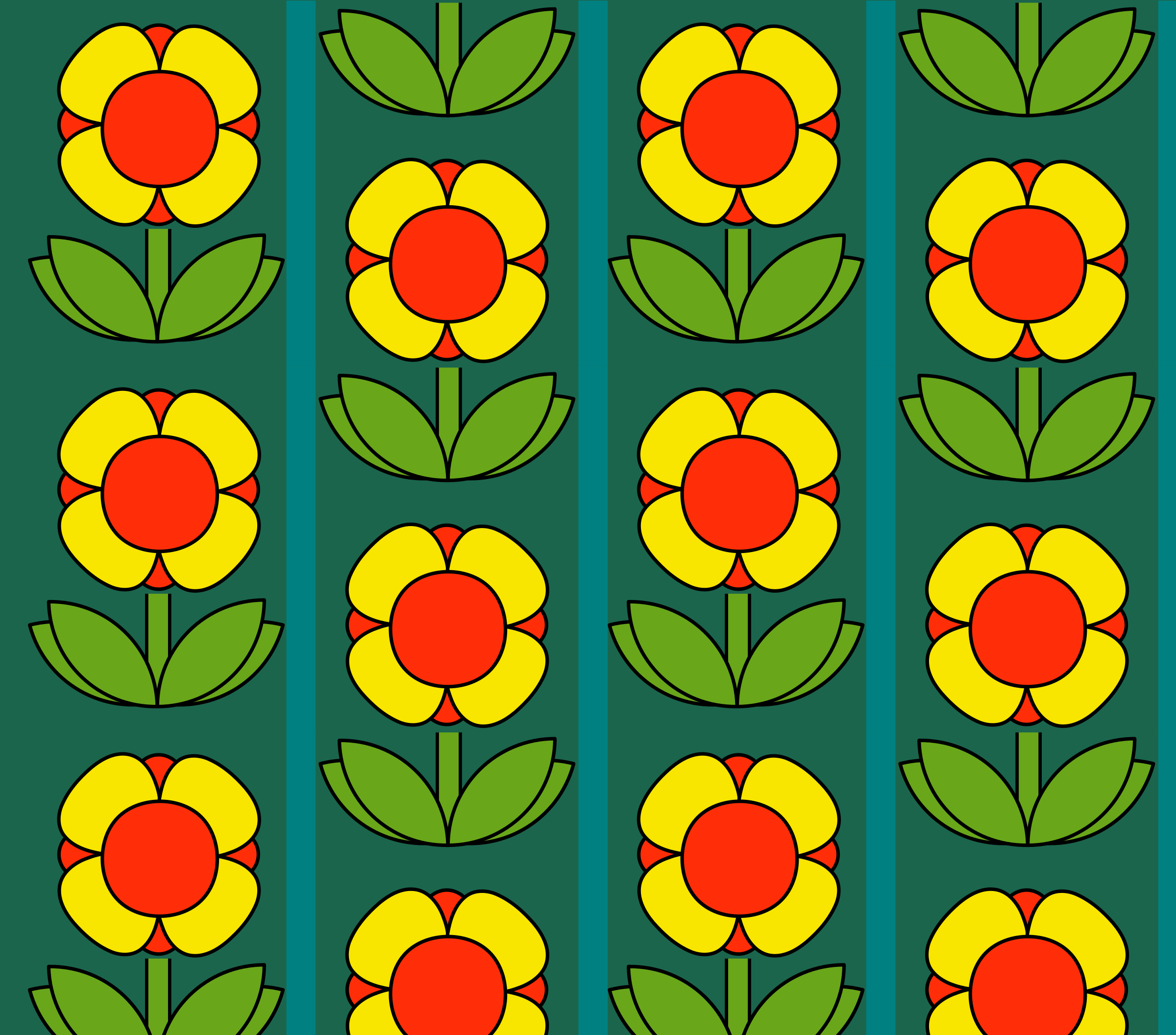Retro flowers pattern by anarres