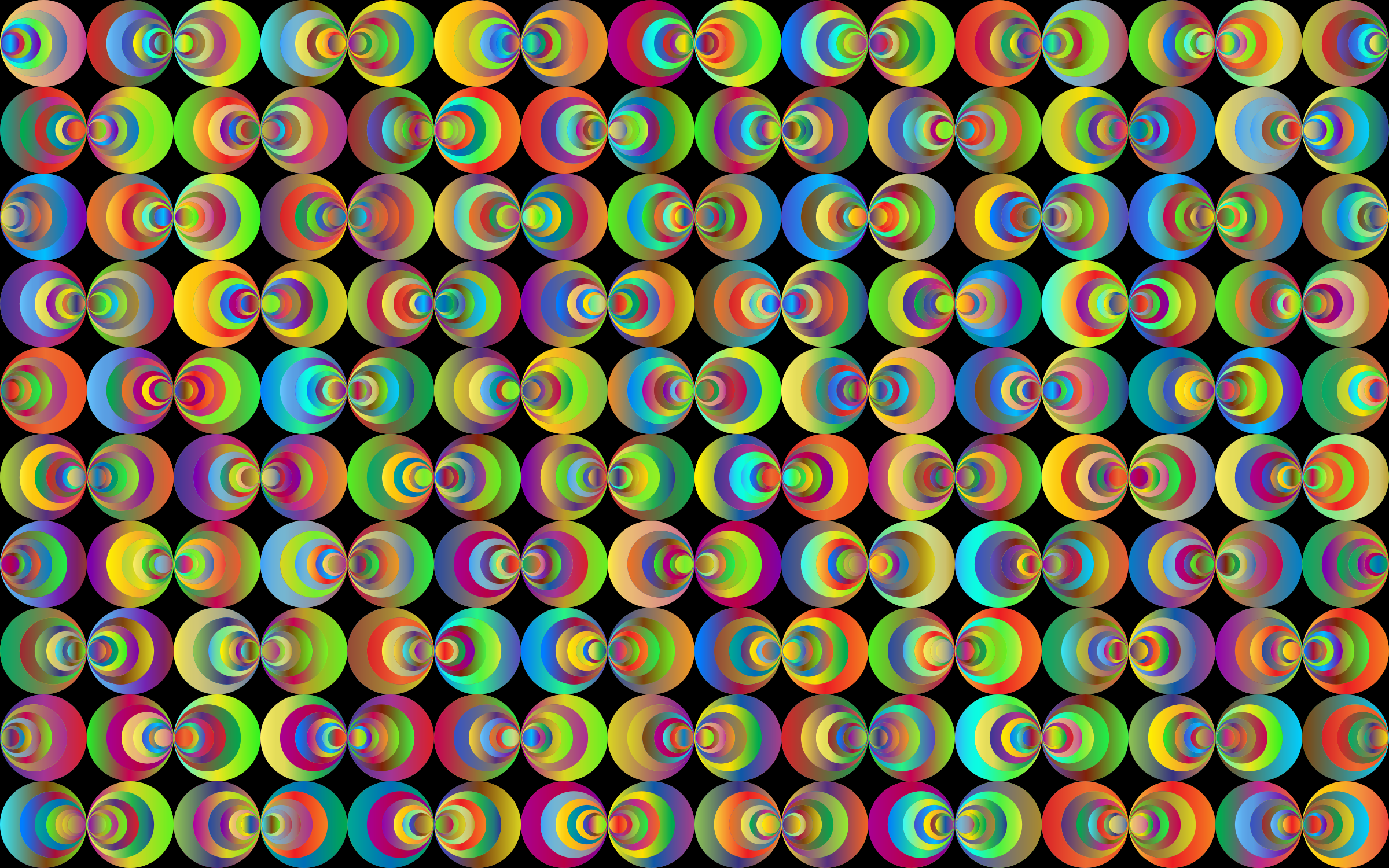 Retro Circles Background 3 by GDJ