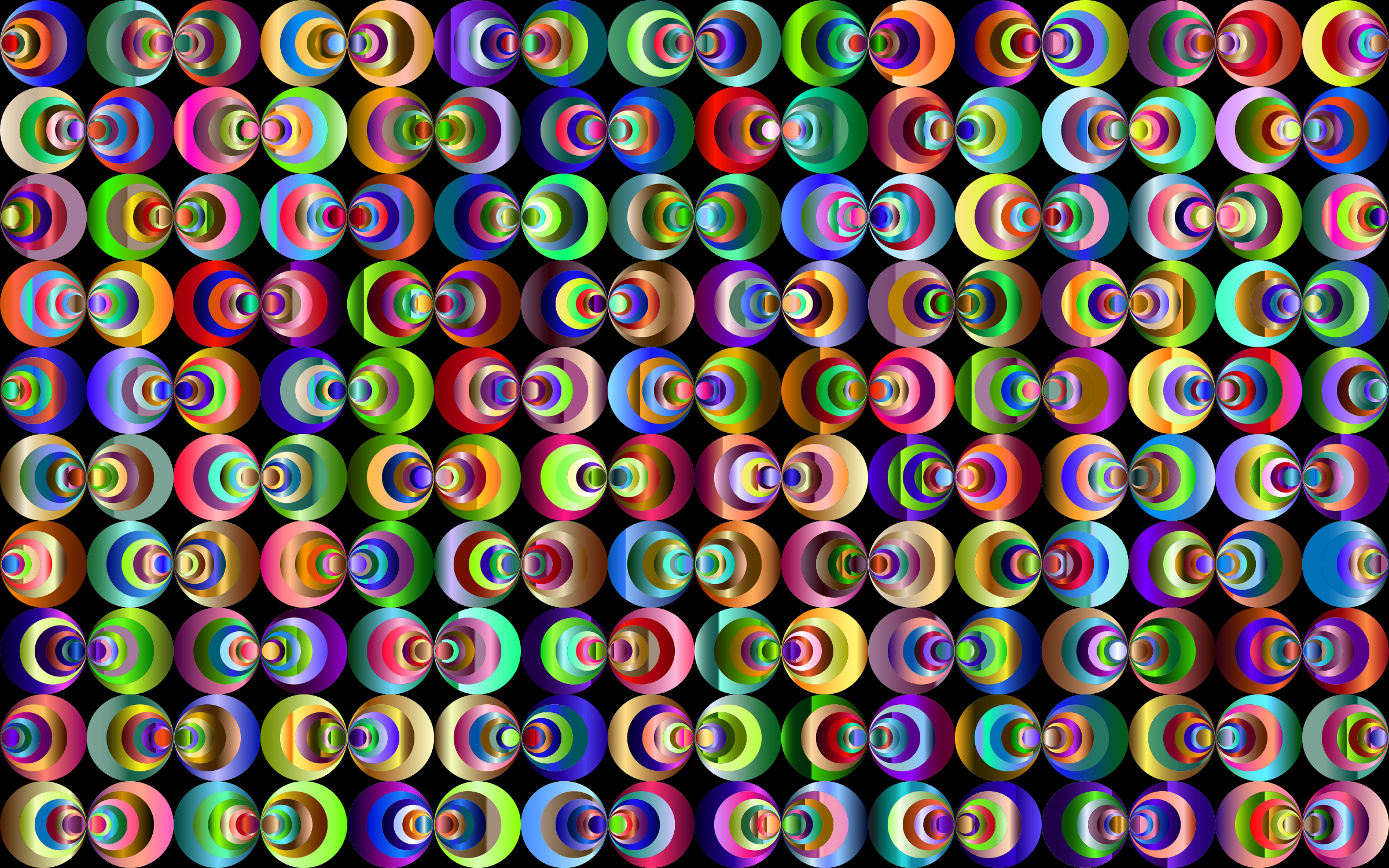 Retro Circles Background 5 by GDJ