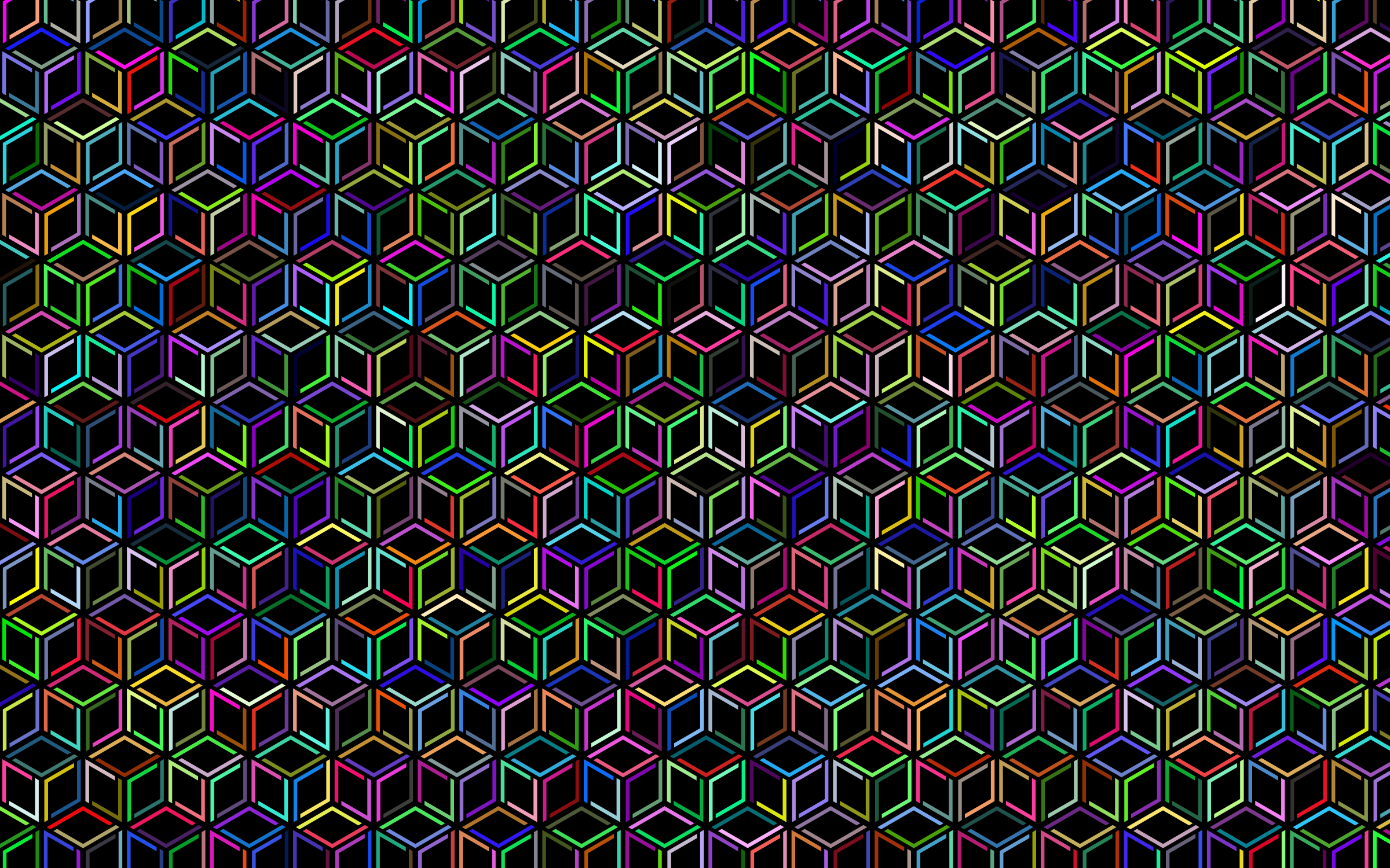 Prismatic Isometric Cube Extra Pattern by GDJ