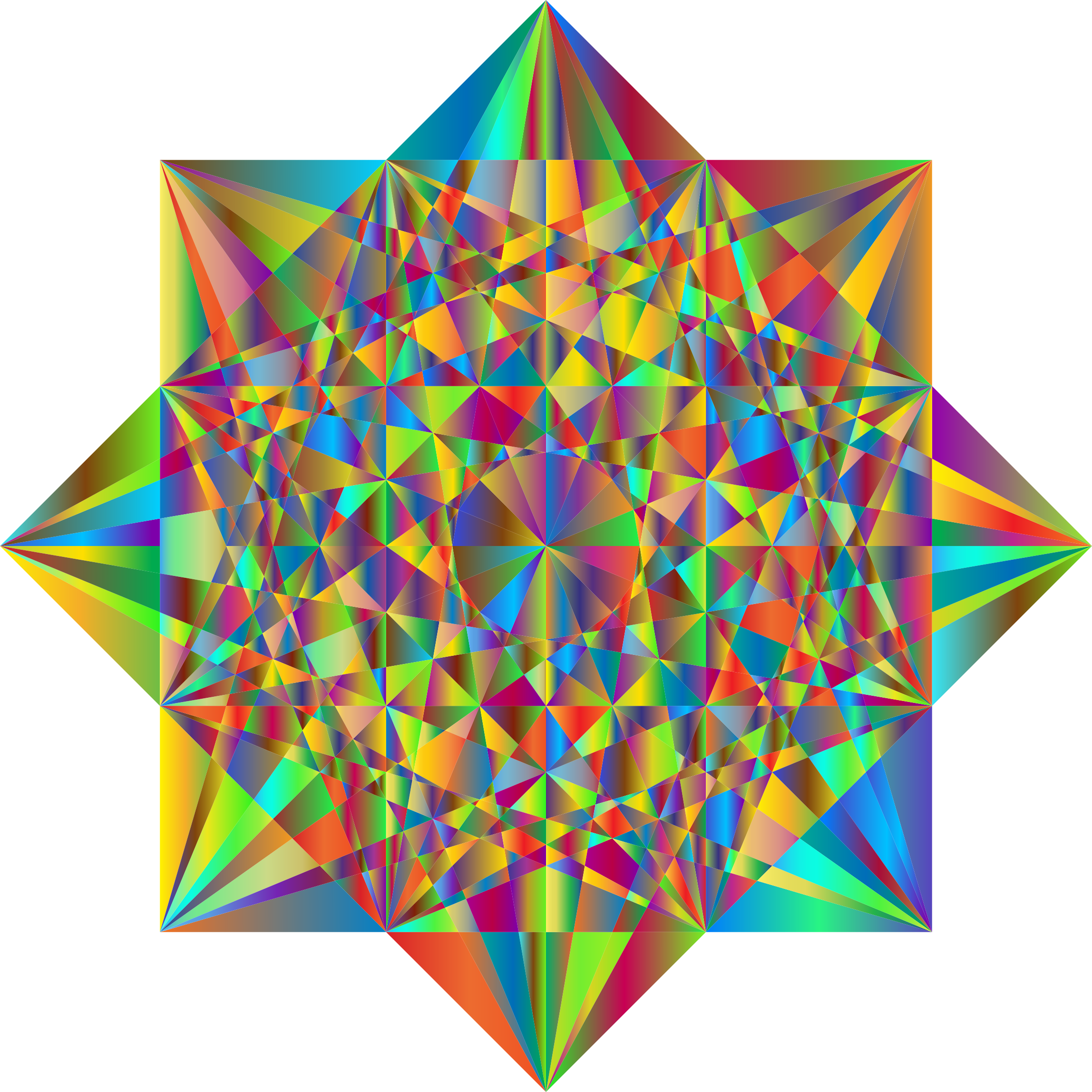 Prismatic Geometric Star 2 by GDJ