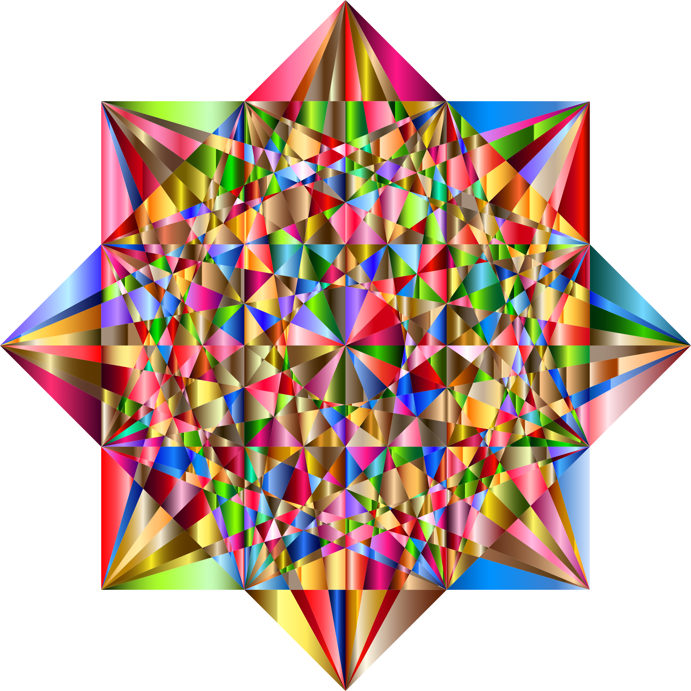 Prismatic Geometric Star 3 by GDJ