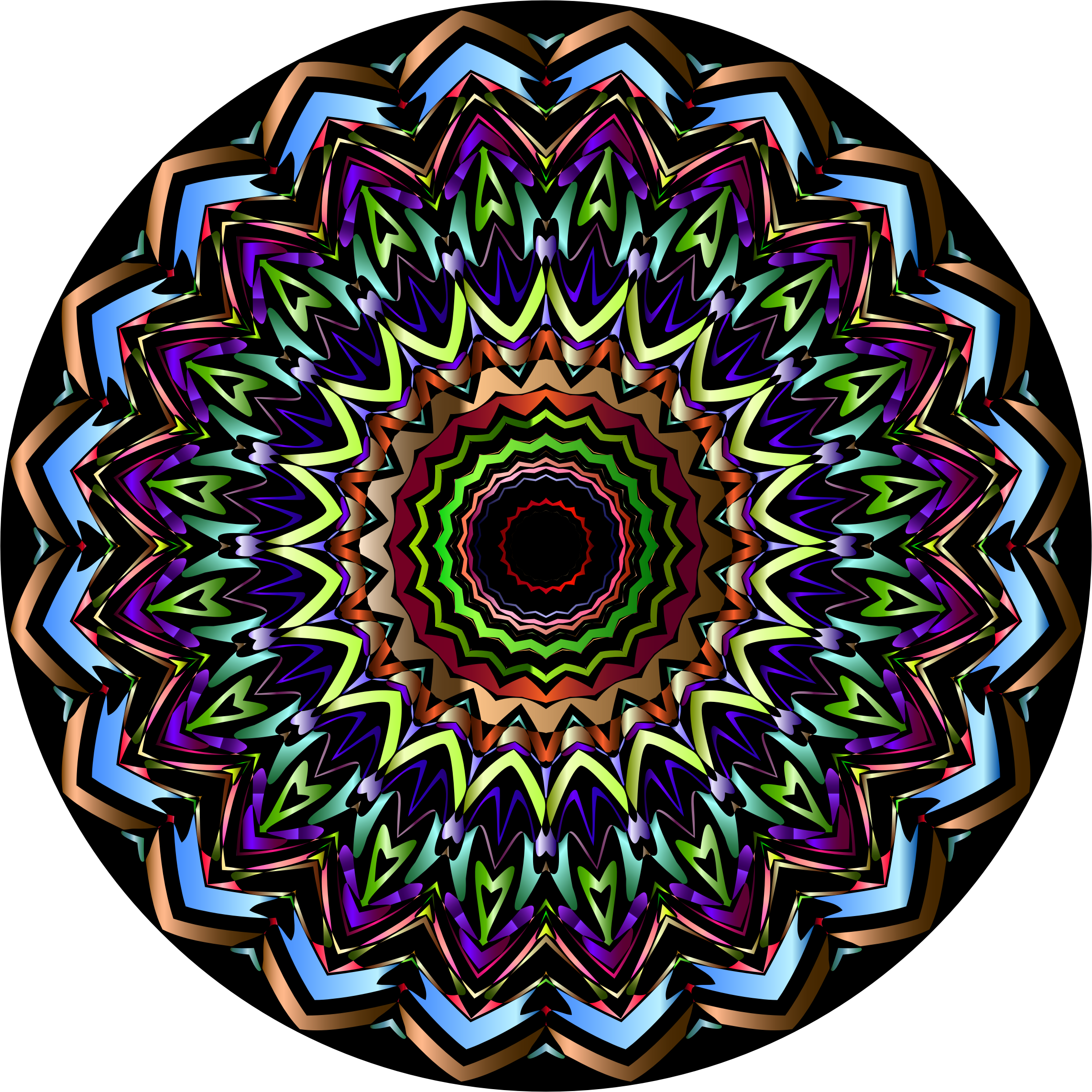 Chromatic Mandala 2 by GDJ