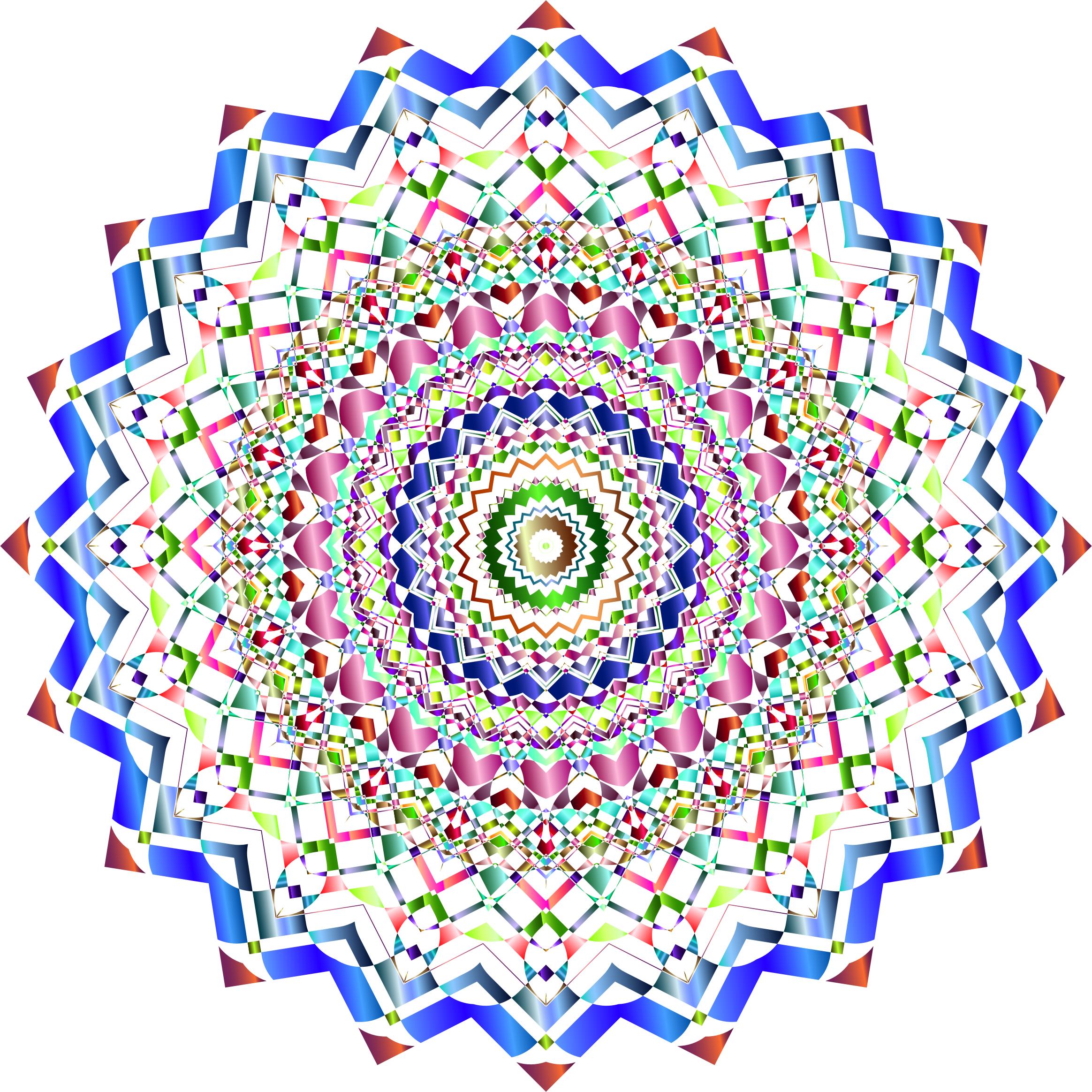 Chromatic Mandala 3 No Background by GDJ