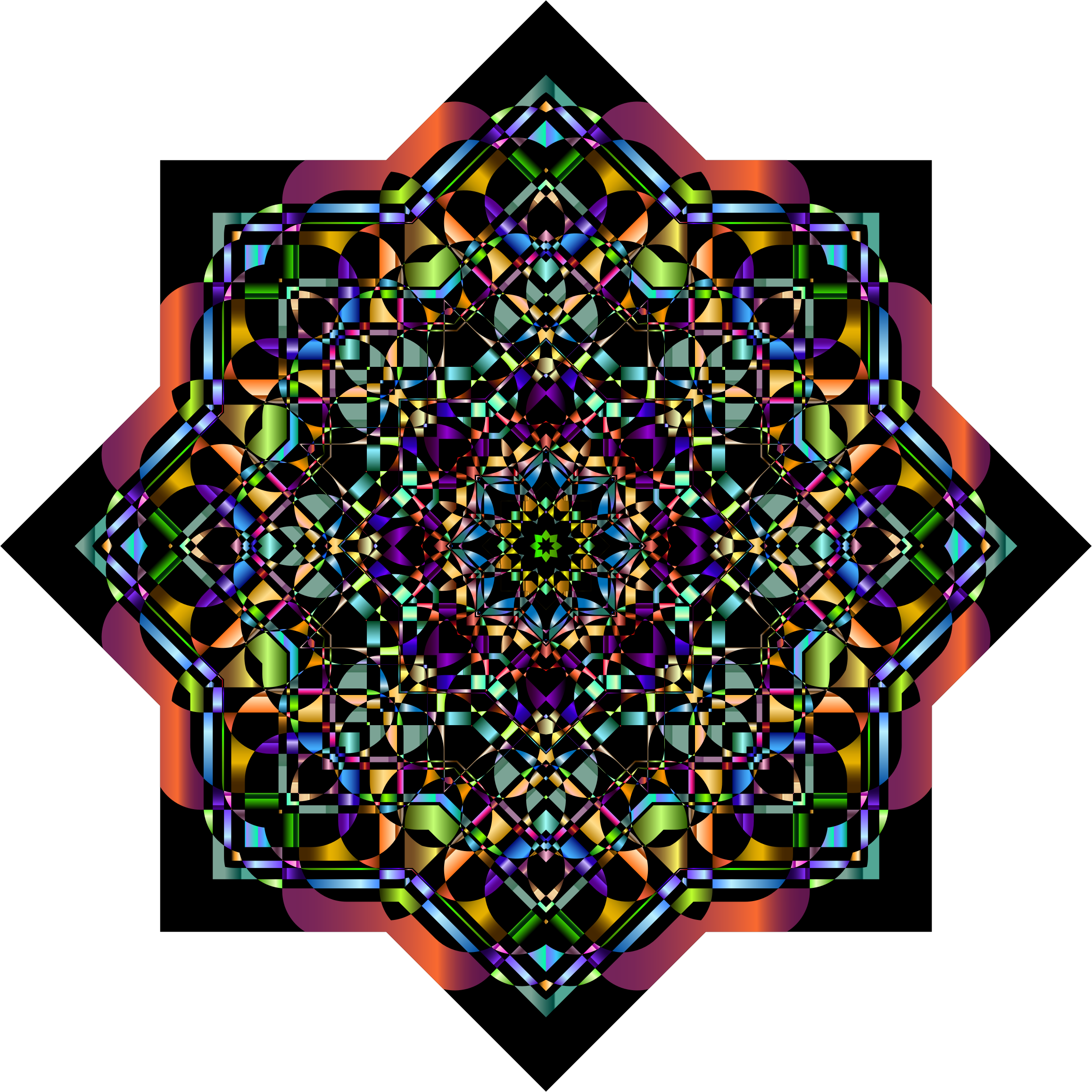 Chromatic Mandala 4 by GDJ