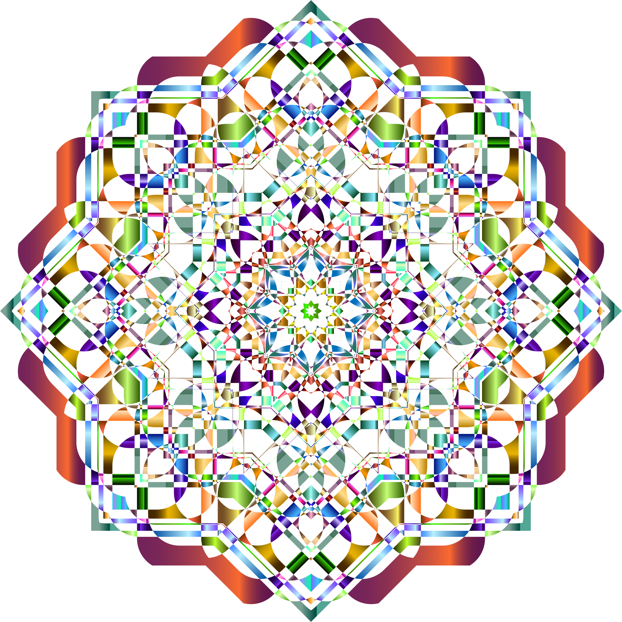 Chromatic Mandala 4 No Background by GDJ