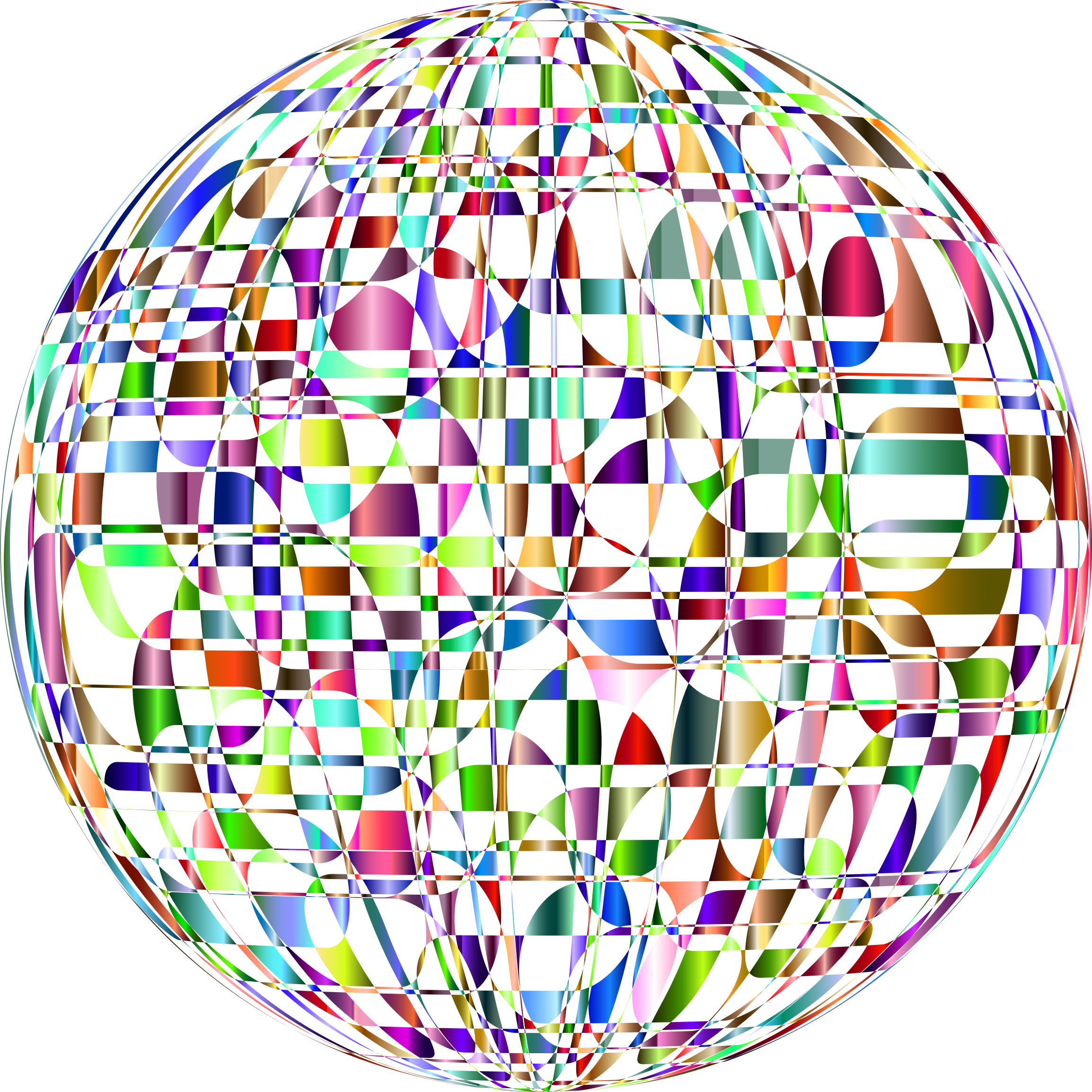 Abstract Chromatic Orb No Background by GDJ