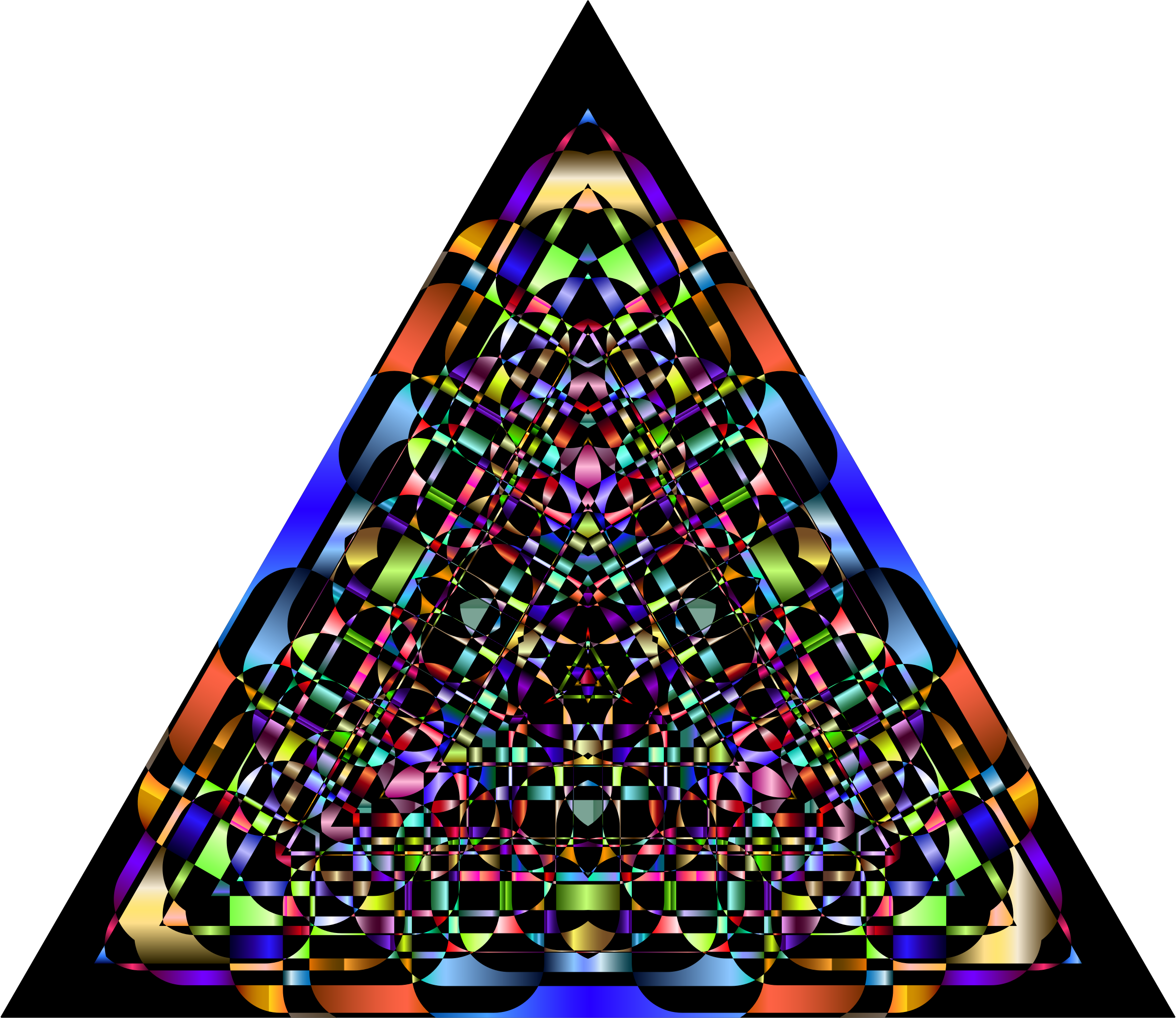 Abstract Chromatic Triangle by GDJ