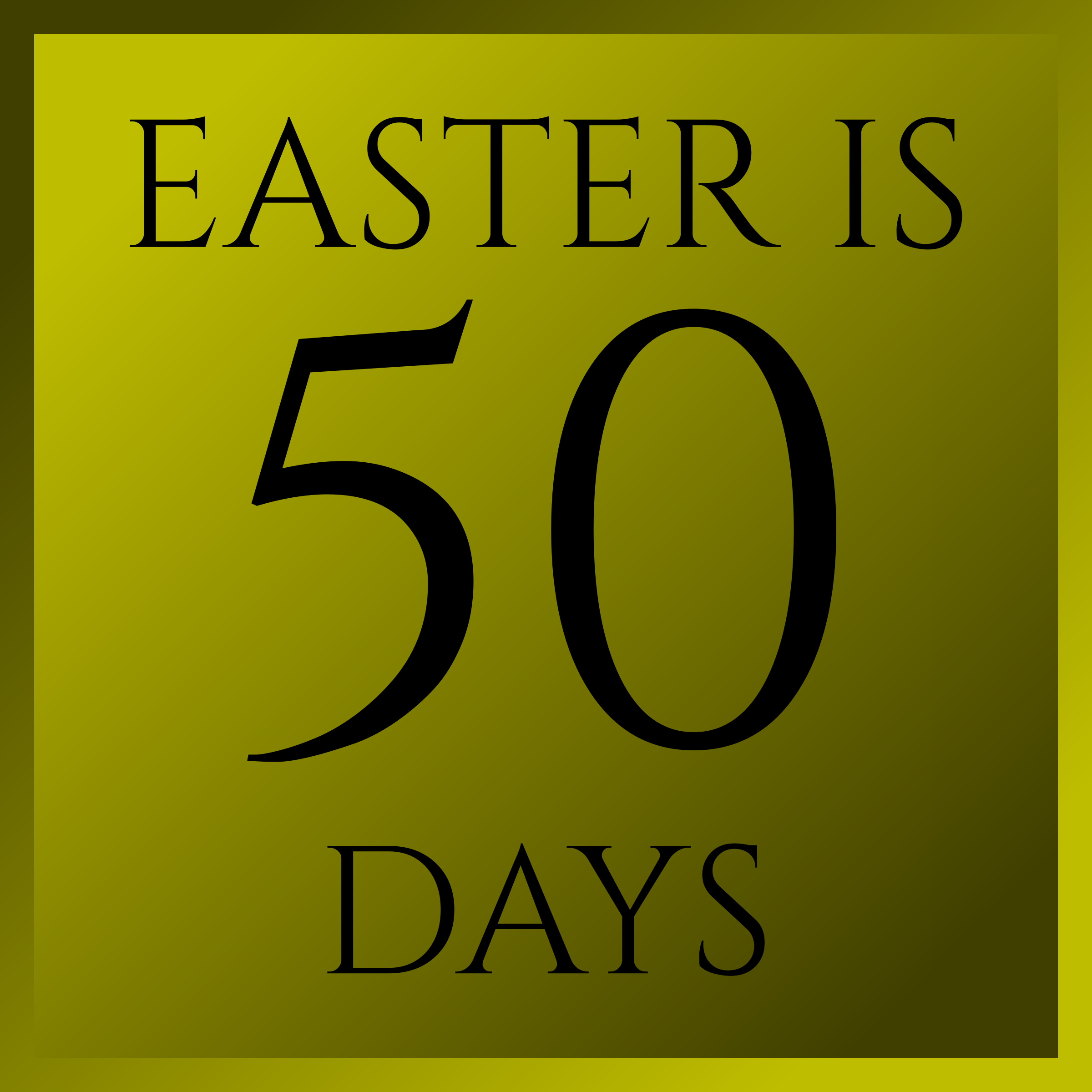 Easter Is 50 Days by PhilipBarrington