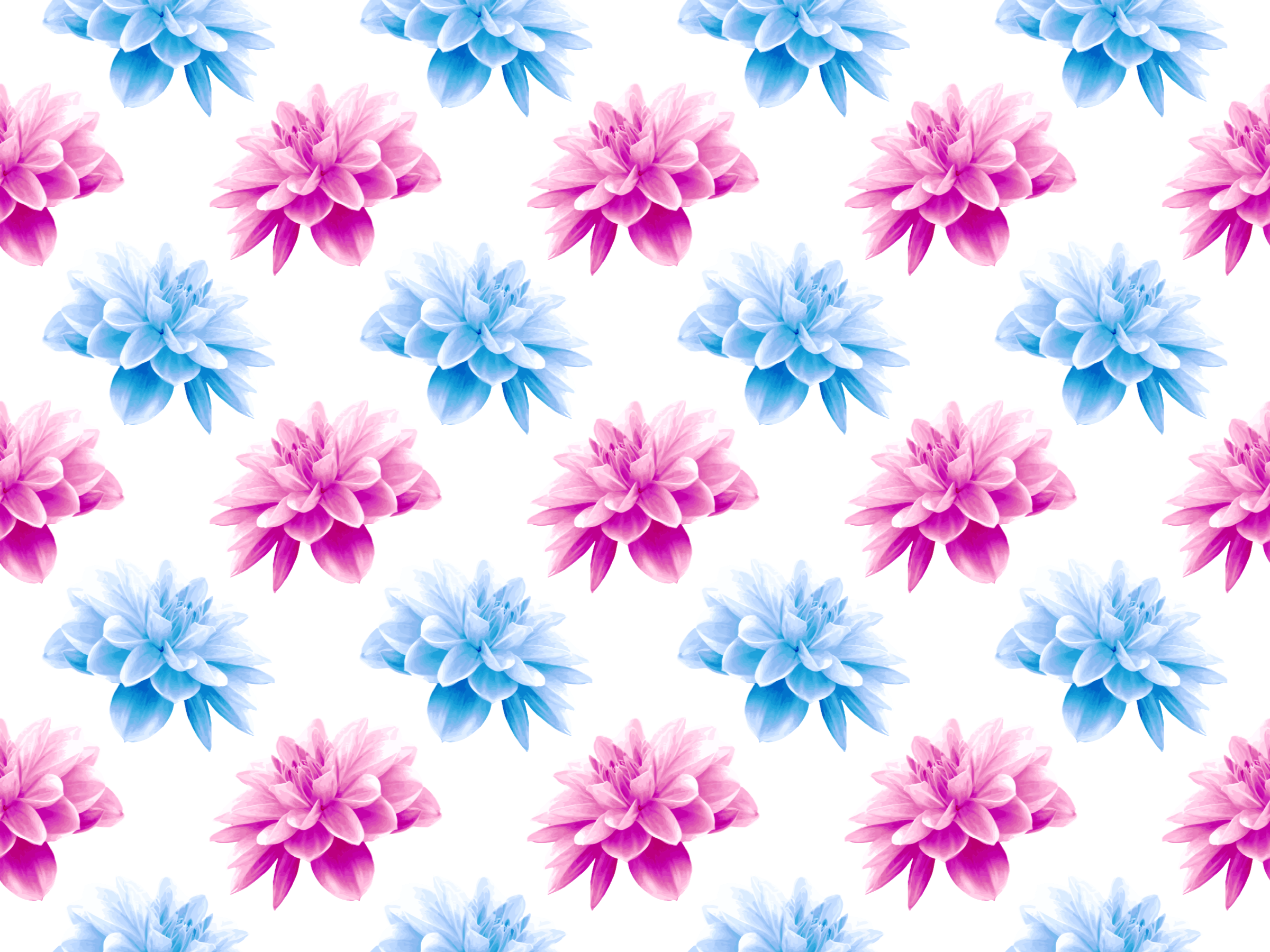 Flower pattern 5 (fuller colours) by Firkin