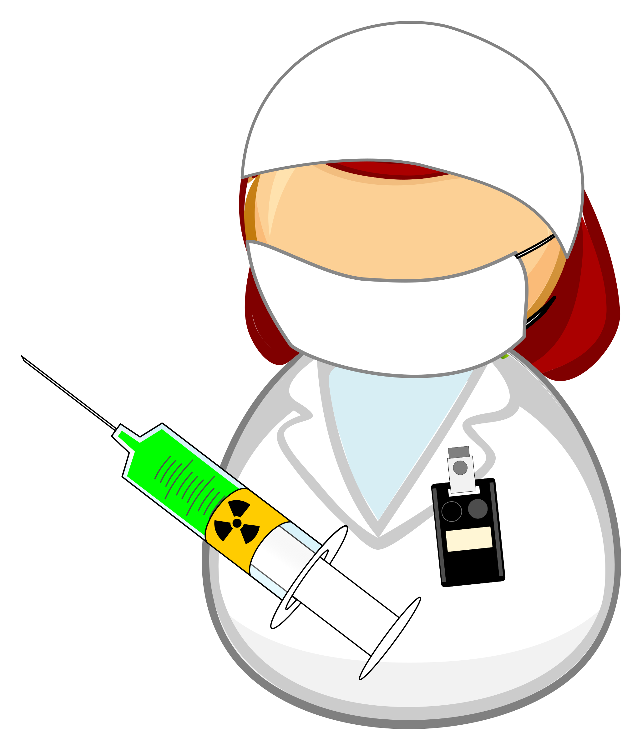 Nuclear medicine worker by Juhele